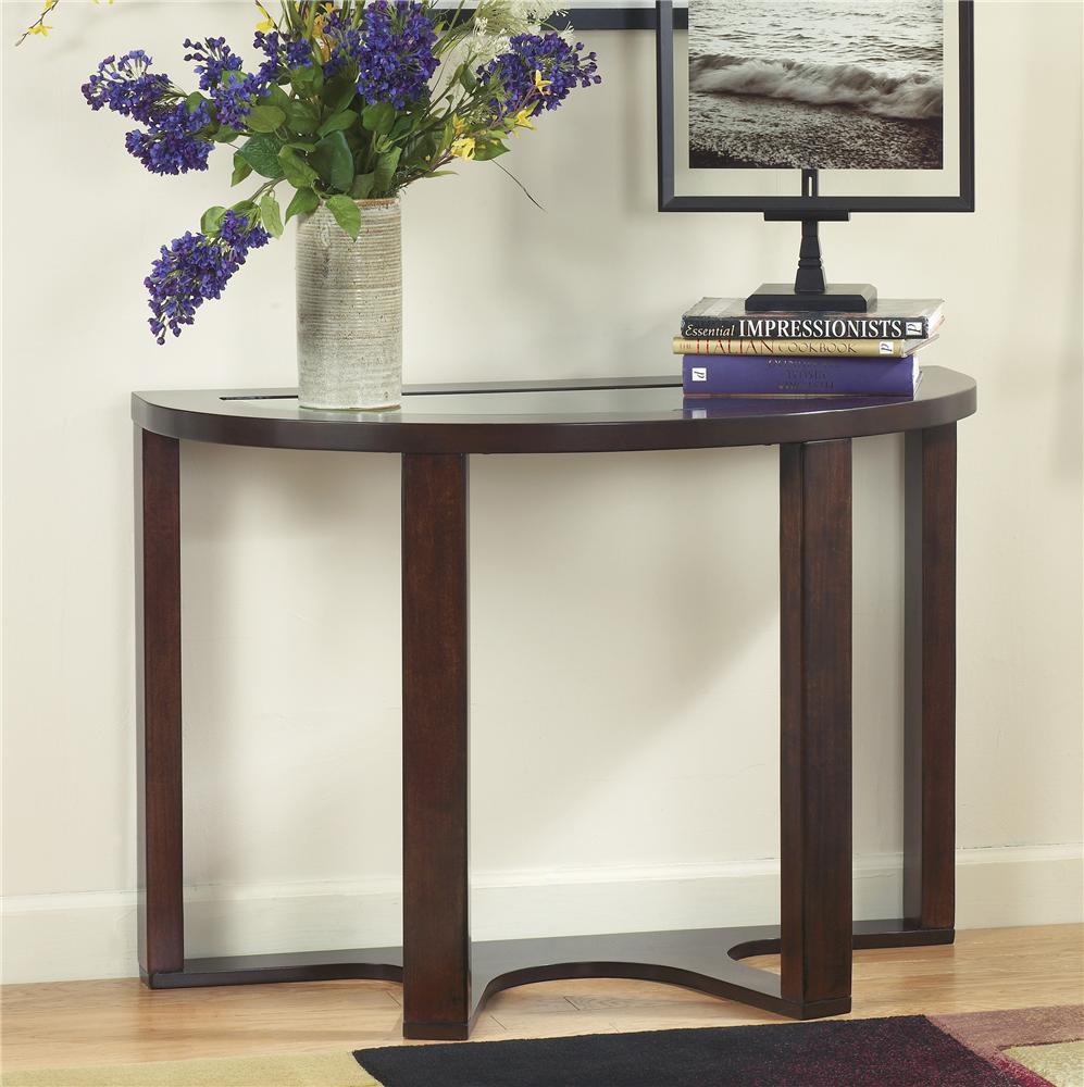 Signature design by ashley marion t477 4 demilune sofa for Sofa table vs console table