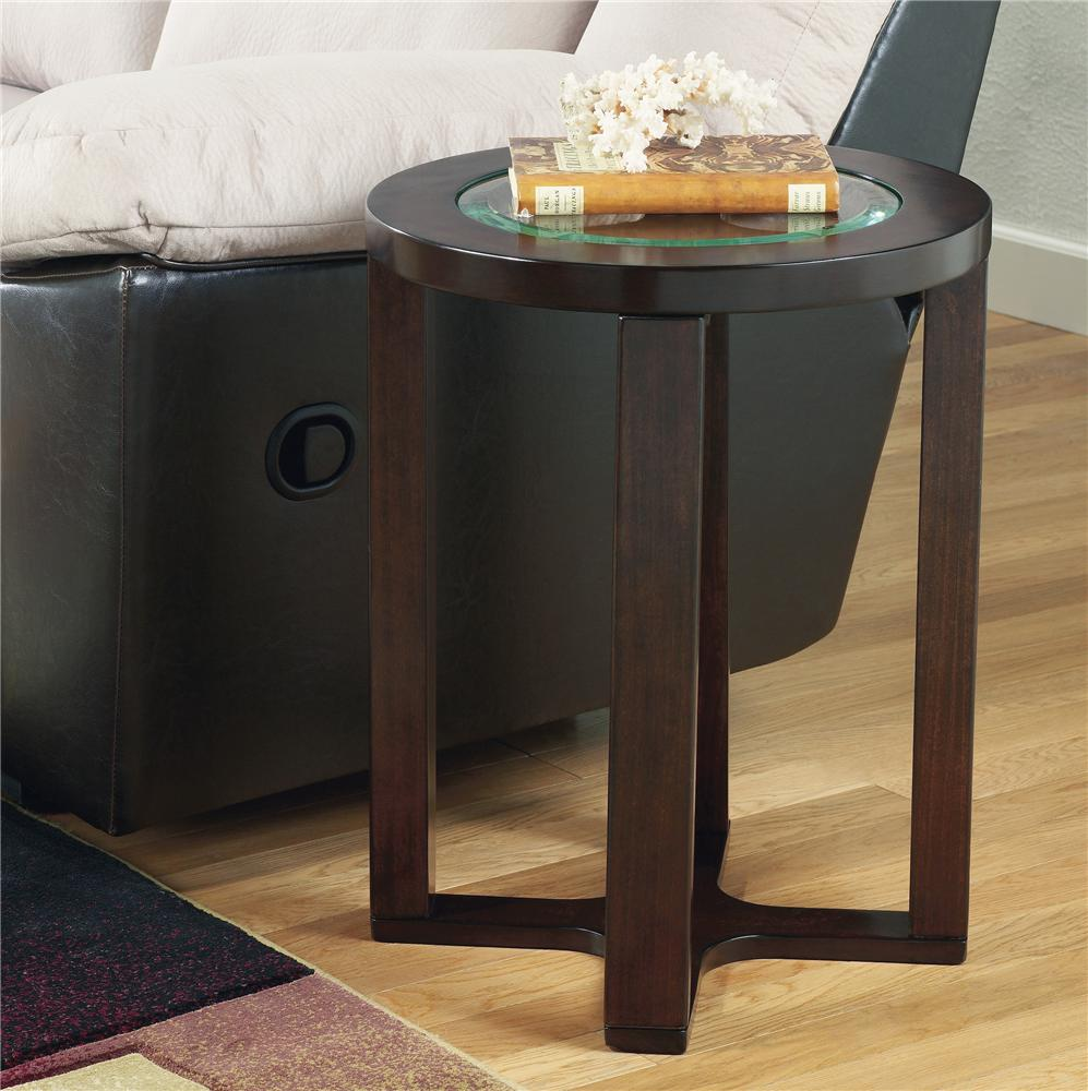 Signature design by ashley marion glass round end table for Td furniture pearl ms