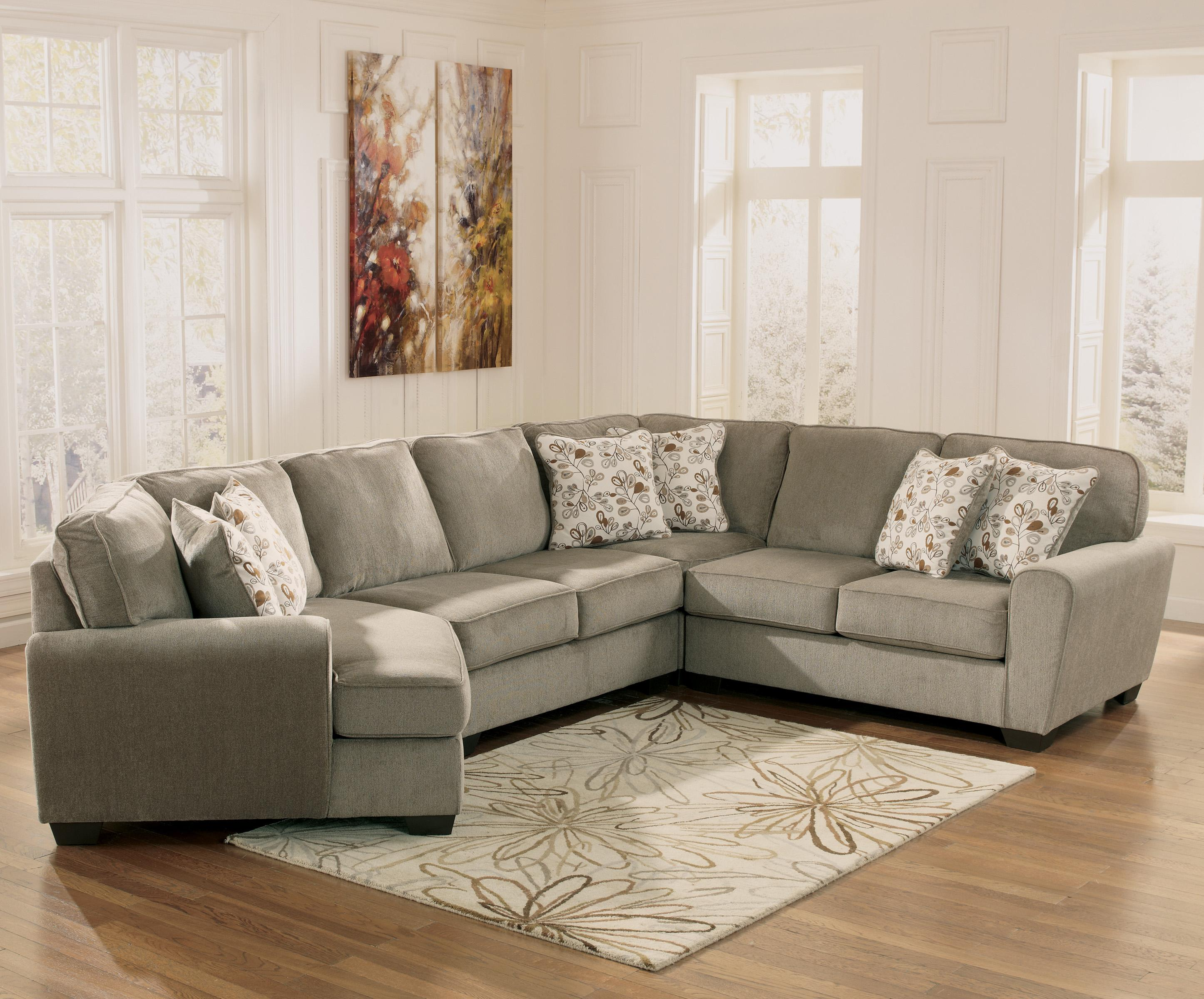 Ashley furniture patola park patina 4 piece small for Small sectional sofa pieces