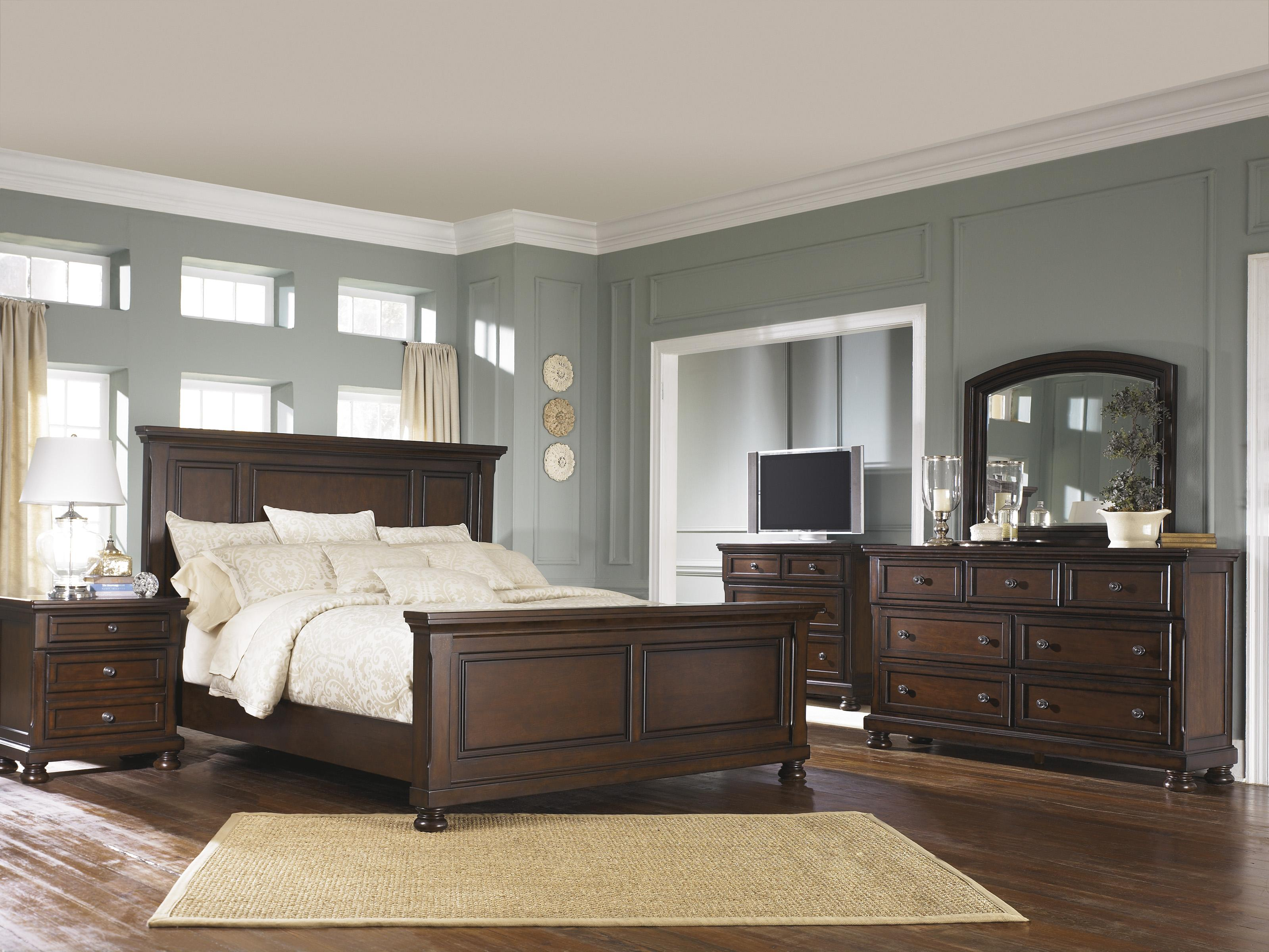 Ashley furniture porter queen bedroom group northeast for Factory direct bedroom furniture