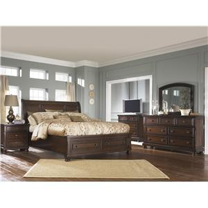 Signature Design By Ashley Leahlyn Queen Bedroom Group Rife S Home Furniture Bedroom Groups