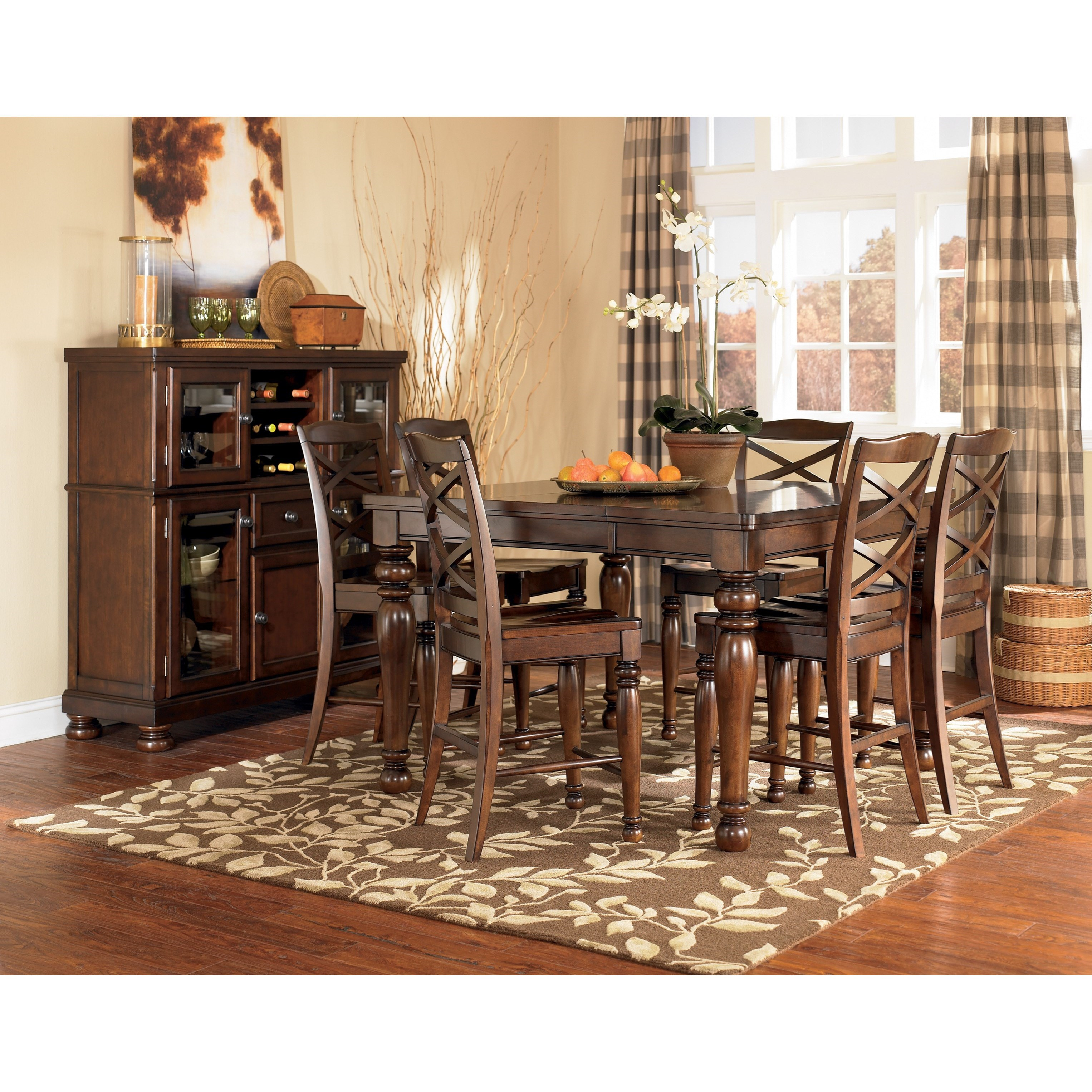 dining room groups ashley furniture porter casual dining room group