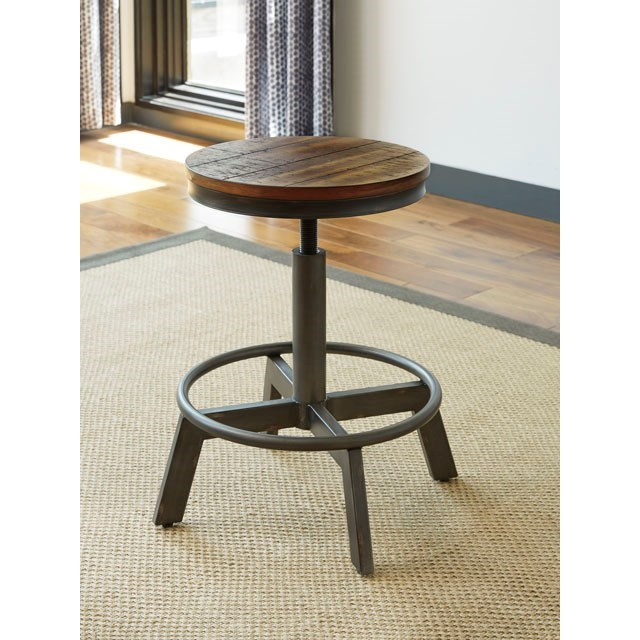 signature design by ashley torjin rustic stool with