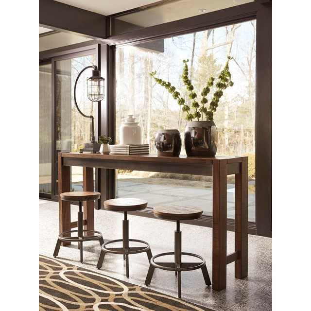 Ashley signature design torjin d440 52 rustic long counter for Table 52 gaborone menu