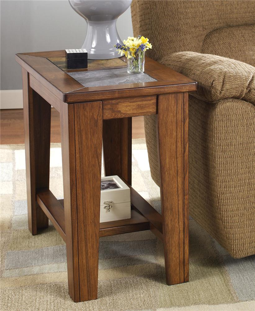 Signature design by ashley toscana chairside end table for Chairside table