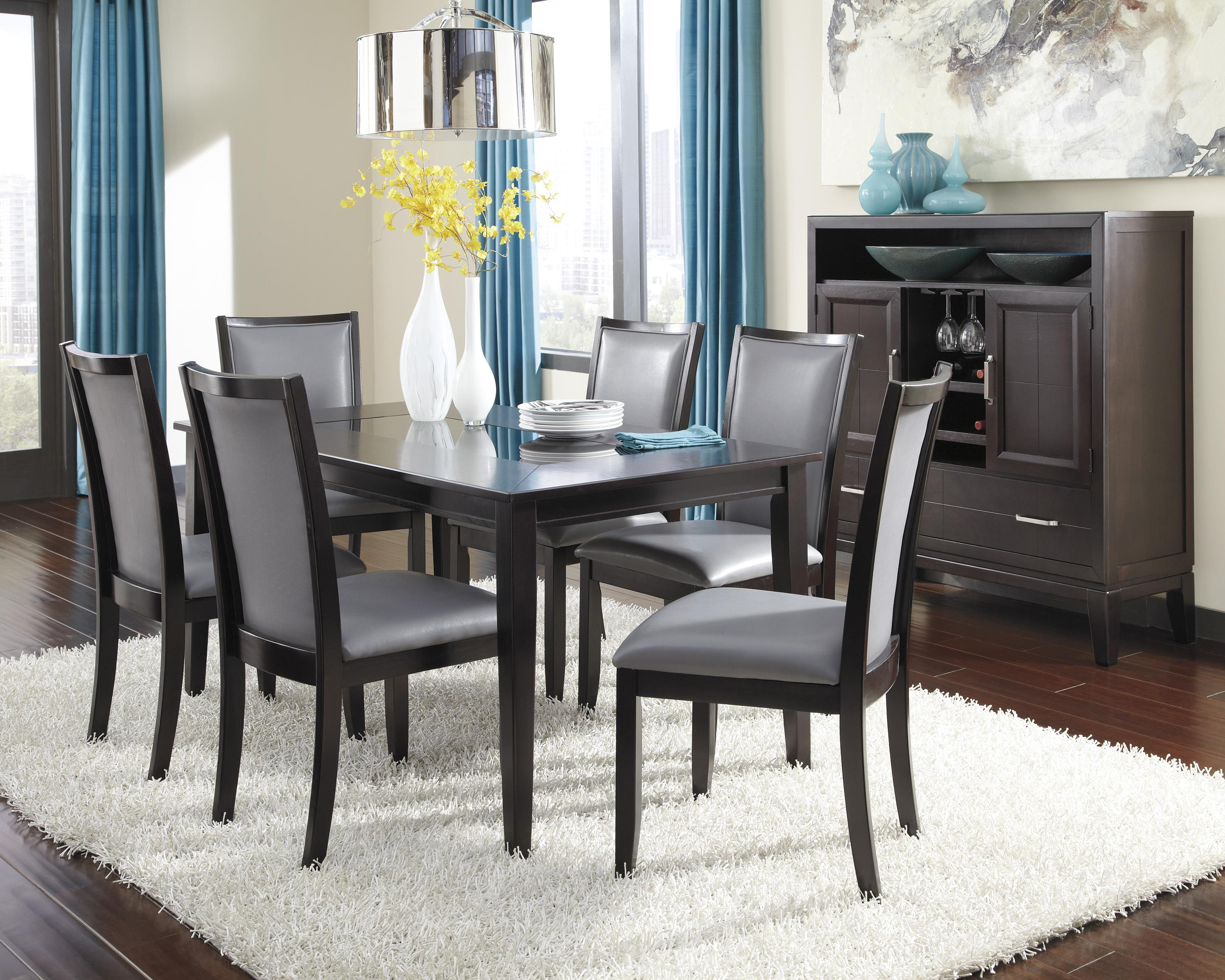 dining table set with gray chairs becker furniture world dining 7