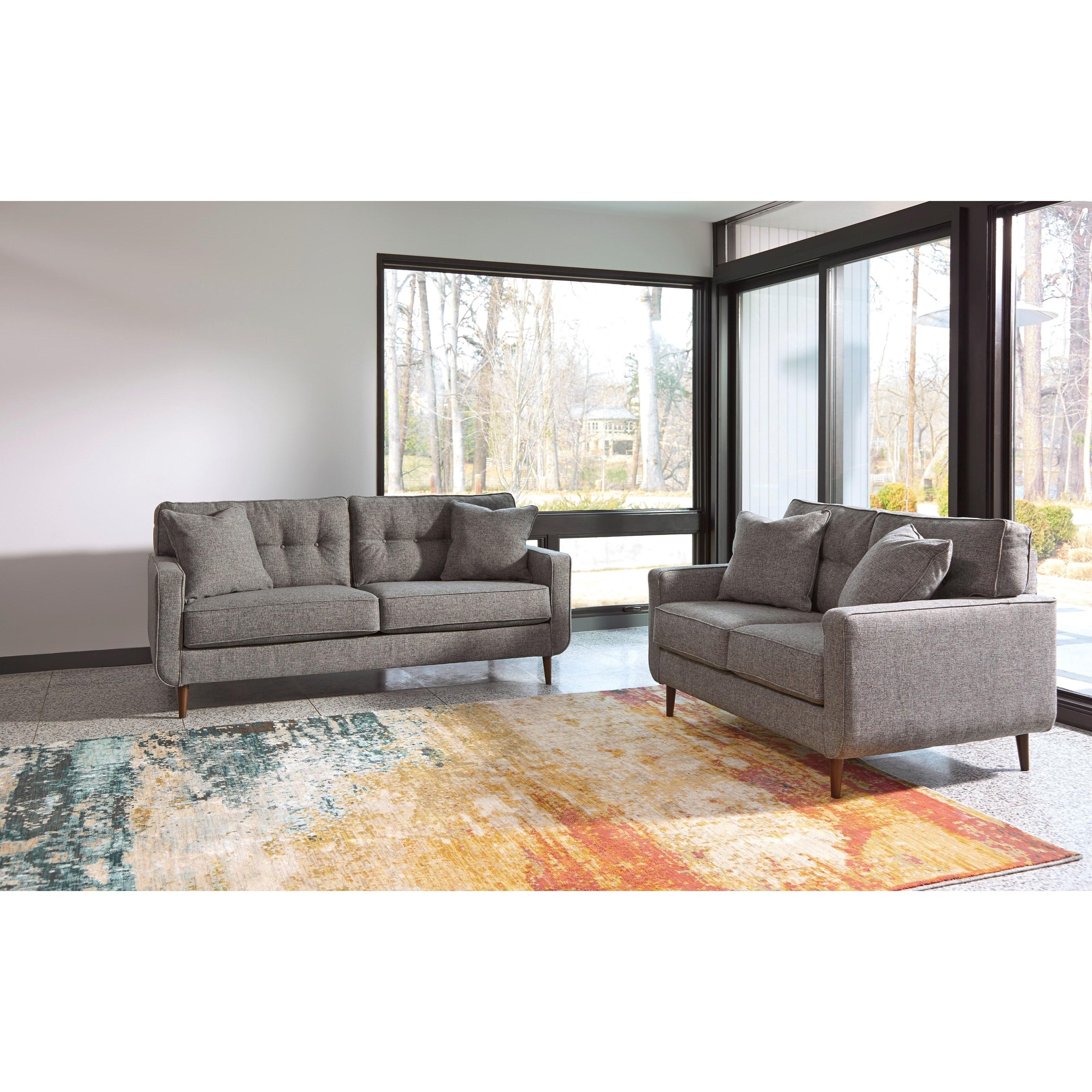 Ashley furniture zardoni stationary living room group for Living room group sets