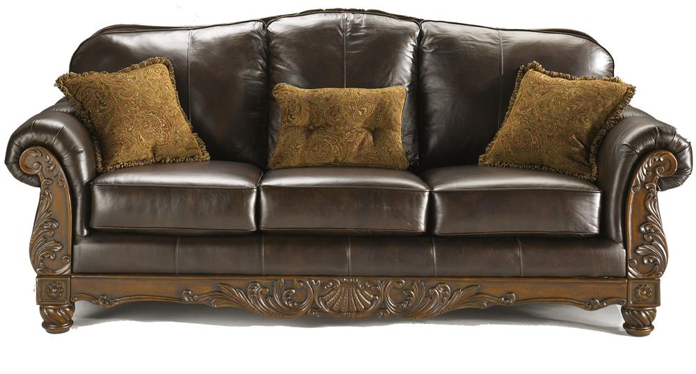 Millennium north shore dark brown traditional leather for Traditional leather sofas furniture