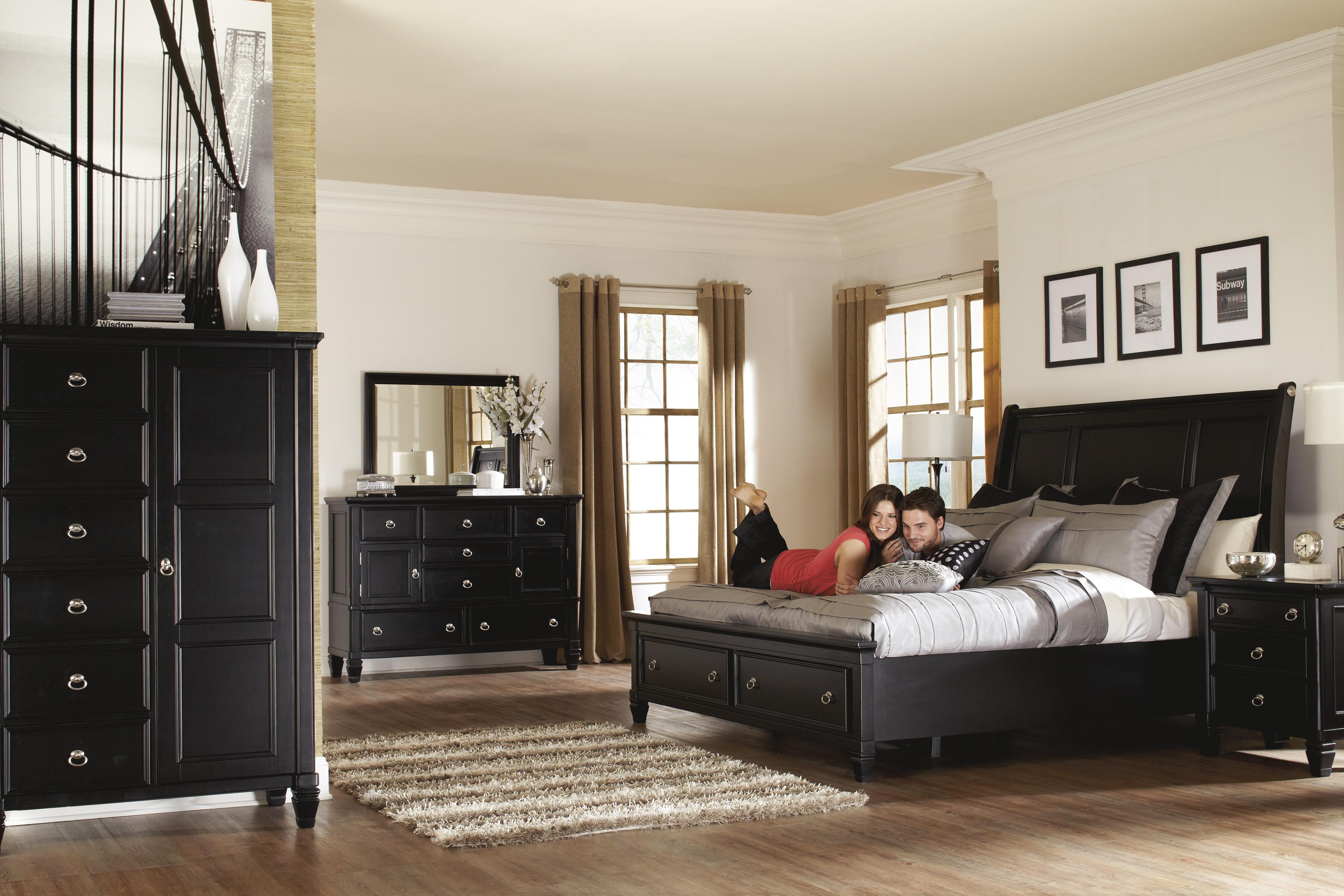 Millennium Greensburg King Sleigh Bed With Storage Footboard Dunk Bright Furniture