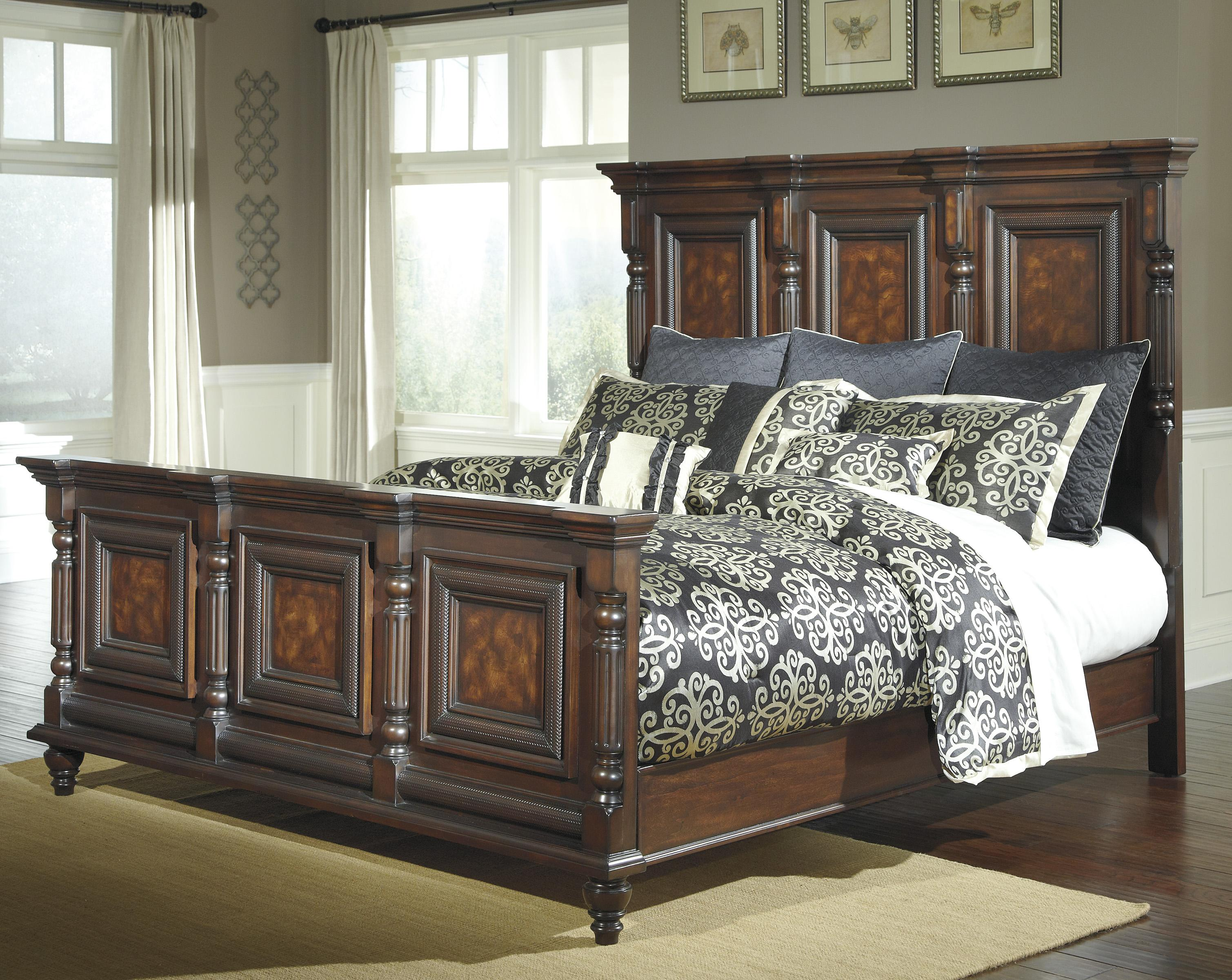 Ashley furniture key town bedroom set key town truffle living room furniture from millennium by for Silverglade mansion bedroom set ashley furniture