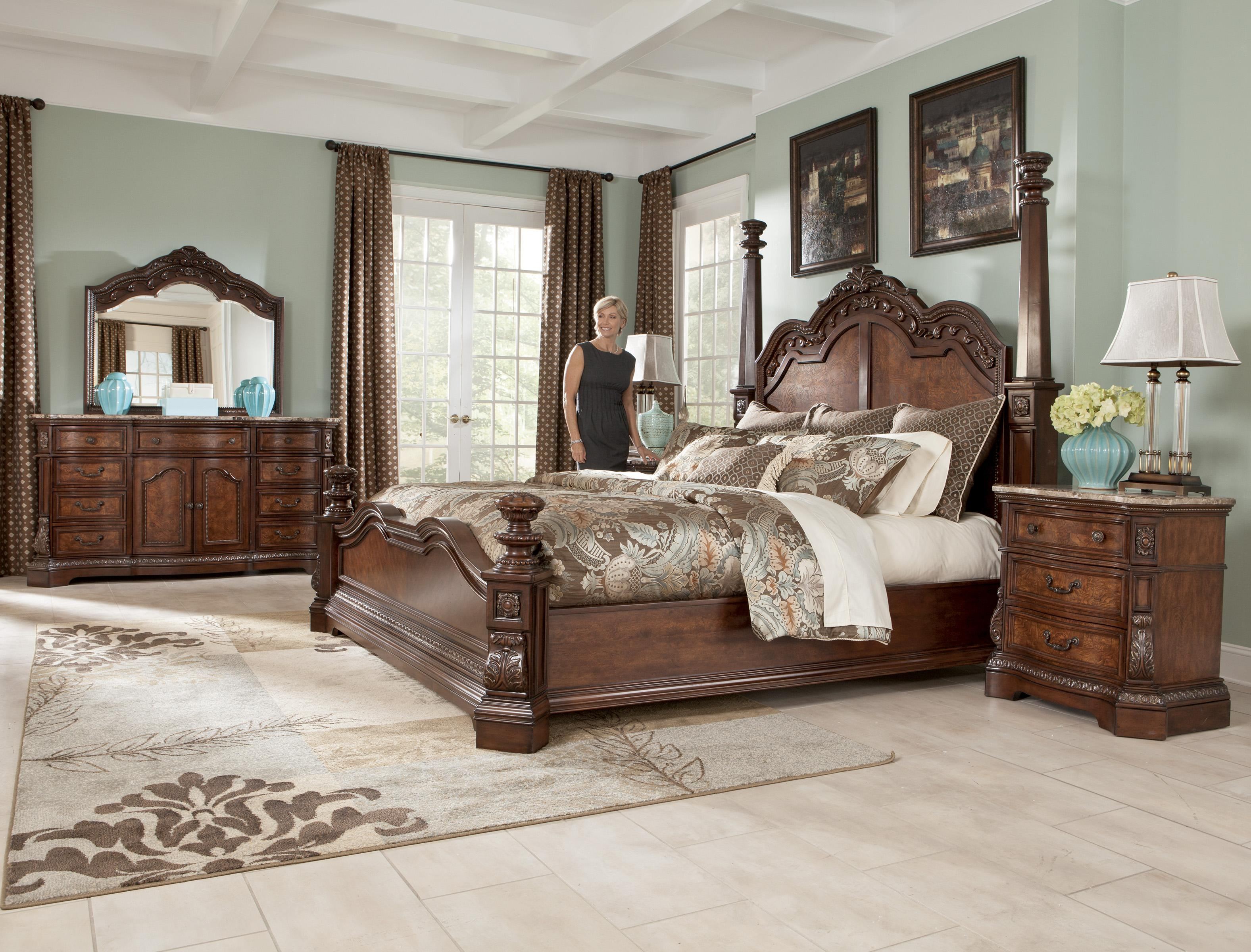 Millennium Ledelle Traditional King Poster Bed With Tall Headboard Posts Olinde 39 S Furniture