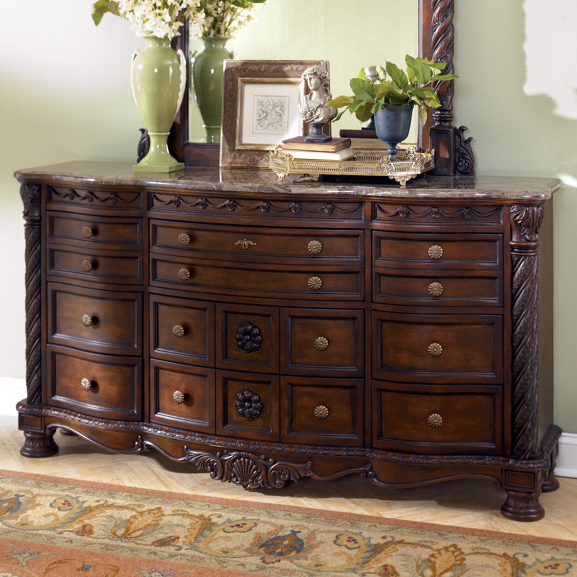 Old World Stone Top Dresser