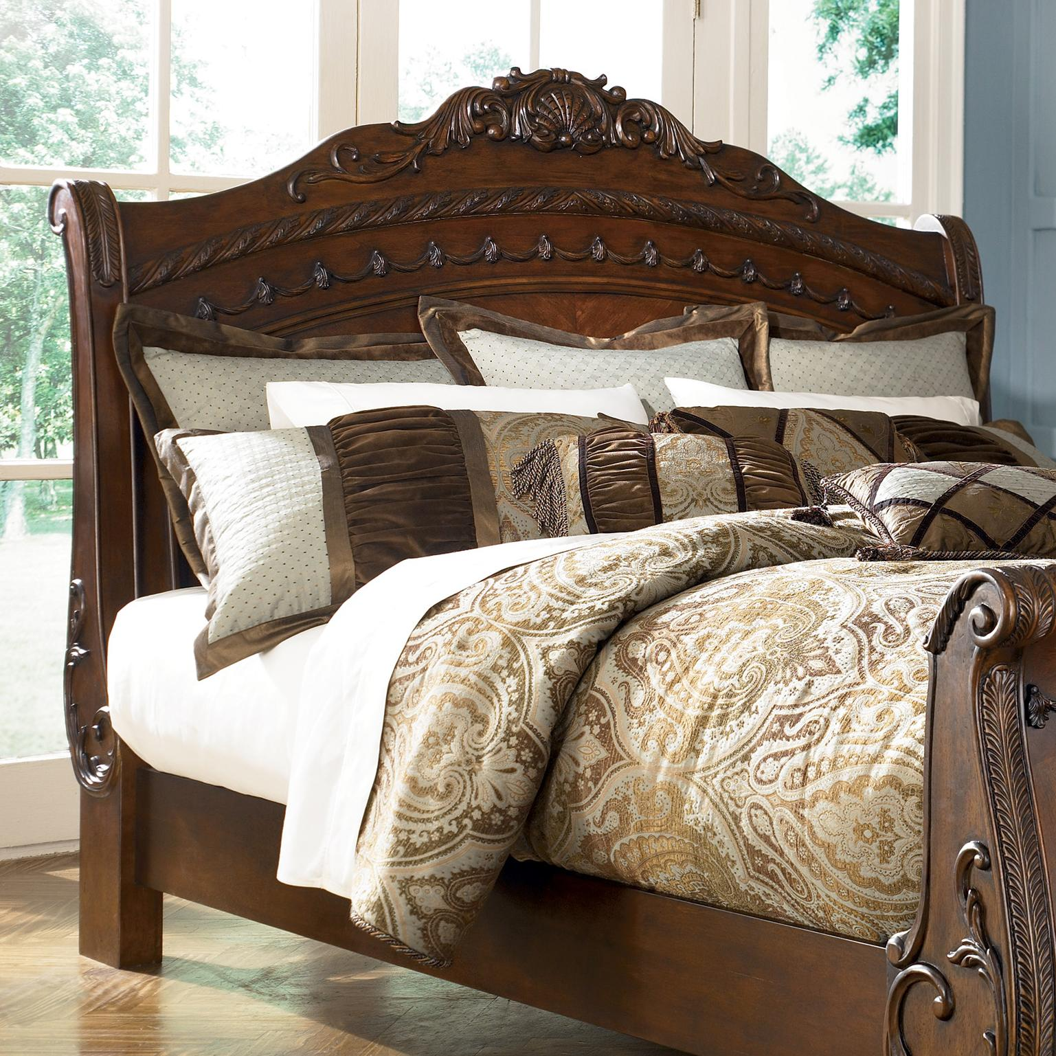 North S Sleigh Bedroom Set Millennium Furniture Cart