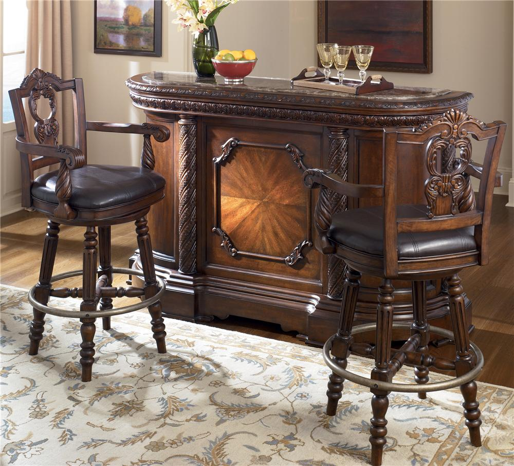 Millennium north shore bar with marble top two 30 inch for Worlds best furniture