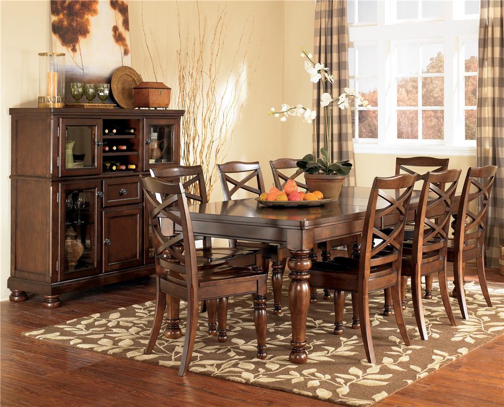 Ashley Furniture Porter 9 Piece Rectangular Extension