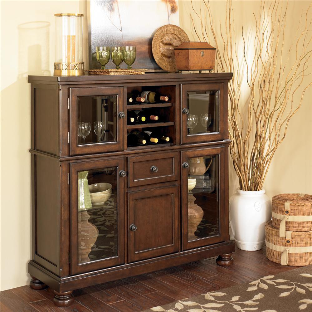 Ashley Furniture Porter Server with Storage Cabinet | Wayside ...