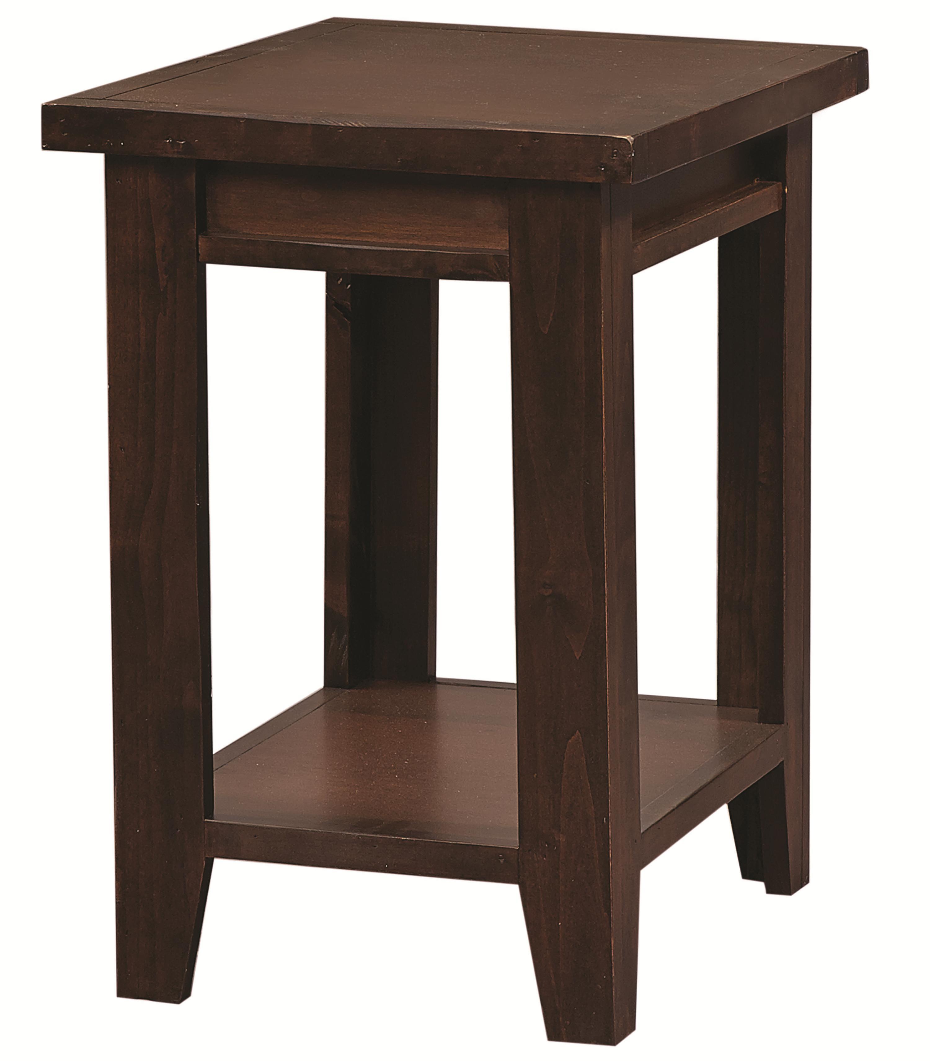 Aspenhome alder grove dg913 tob chairside table with shelf for Hudsons furniture