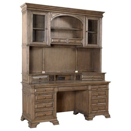 aspenhome arcadia 72 quot  credenza and hutch with led touch