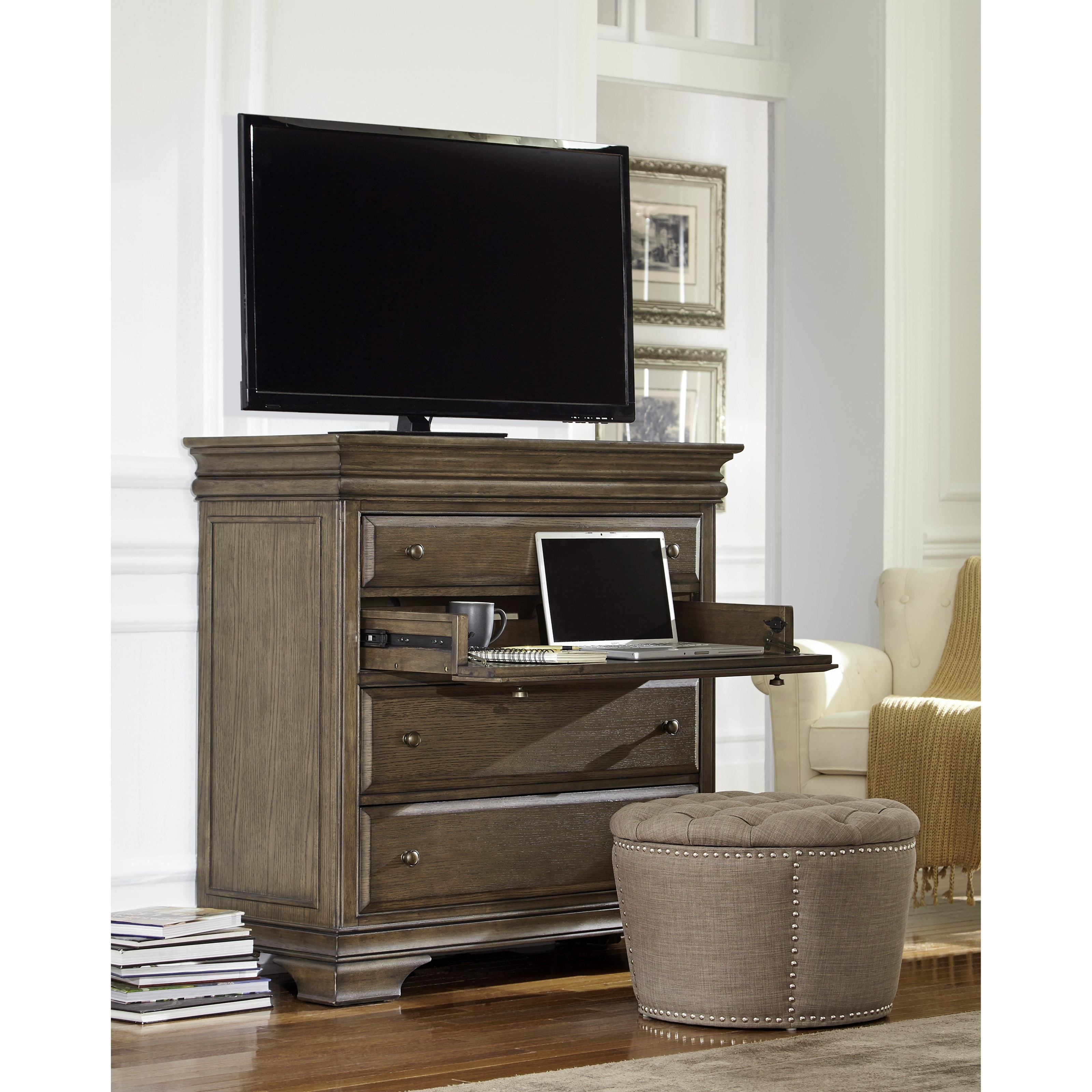 Aspenhome Arcadia I92 486 Media Chest With Outlets Hudson 39 S Furniture Media Chests