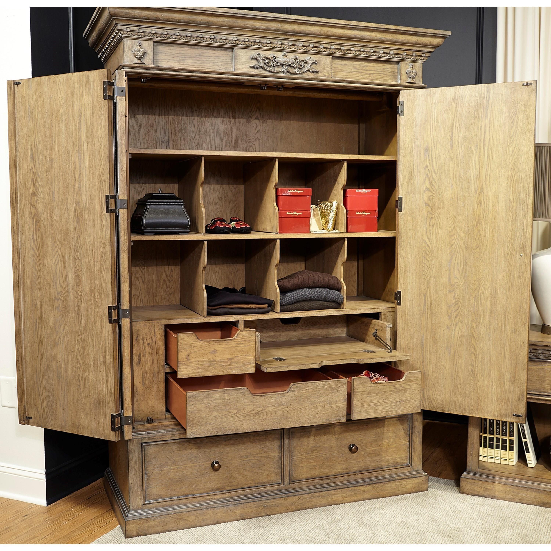 Aspenhome belle maison i94 459 armoire with ac outlets - Armoire maison ...