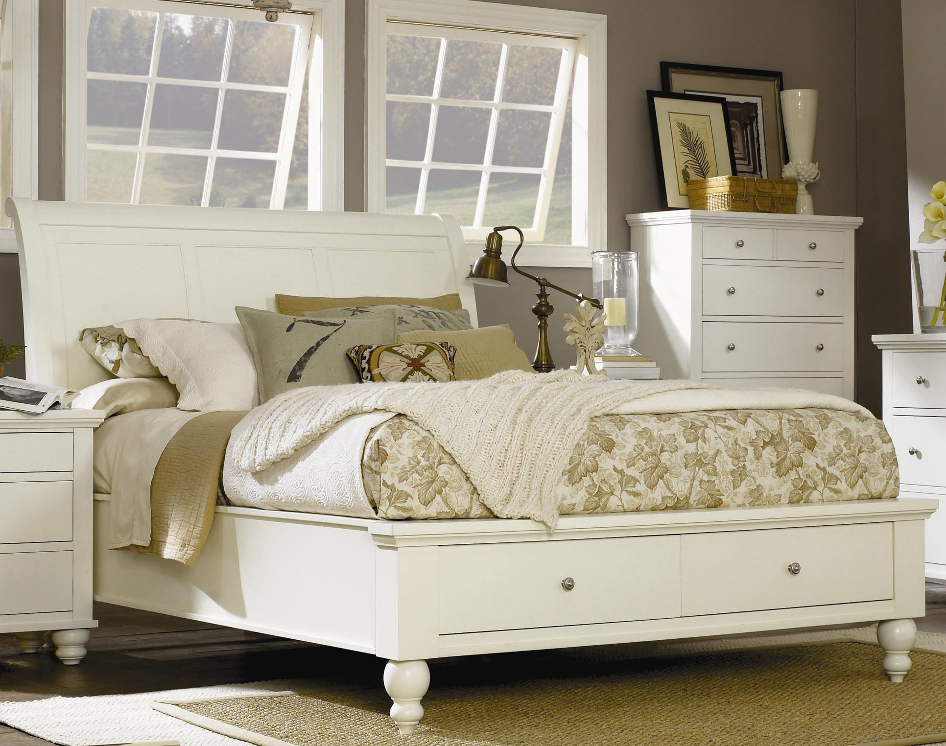 Highland court clinton queen sleigh bed with storage Types of king beds