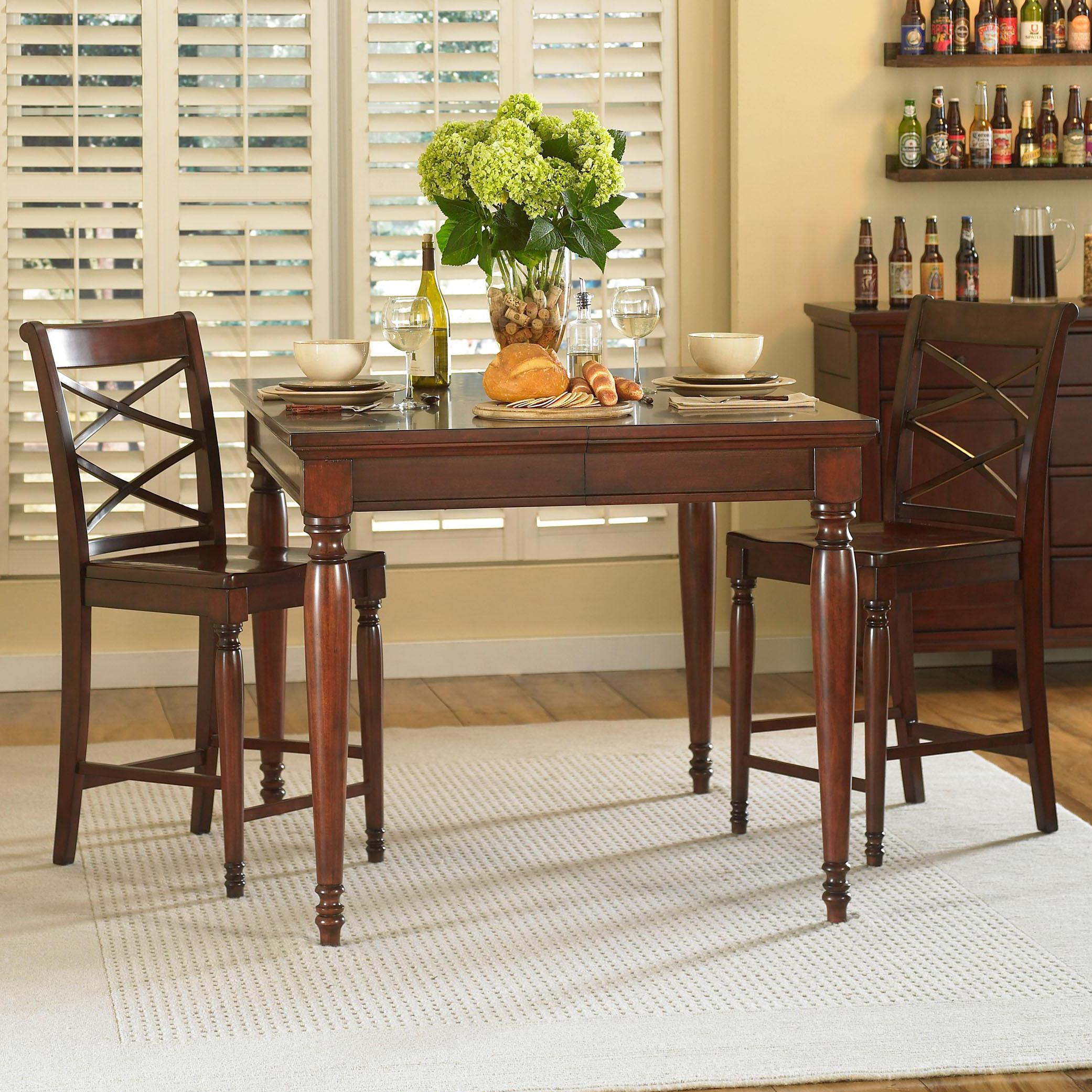 Aspenhome cambridge 3 piece counter height table chair for Hudsons furniture