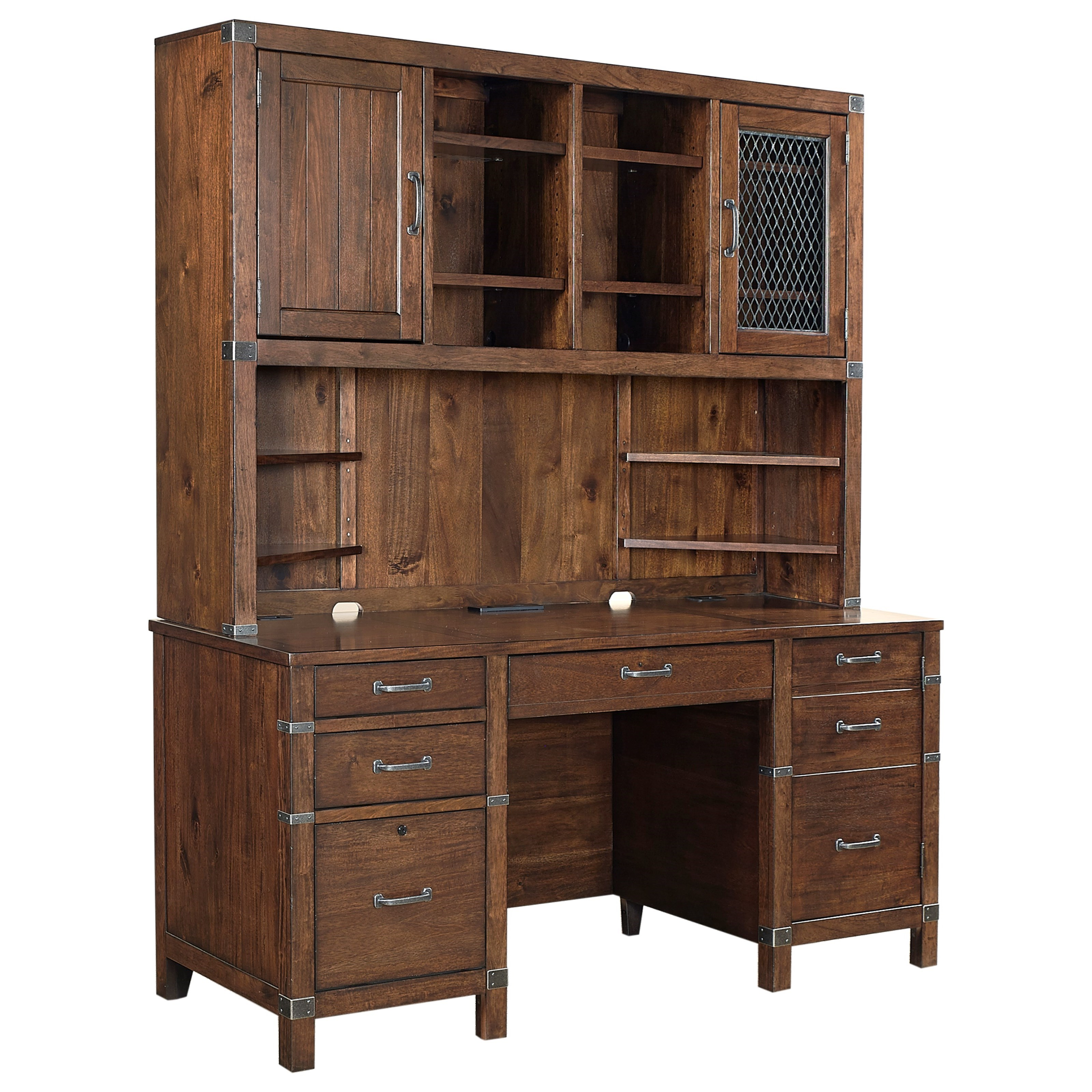 Aspenhome Canfield Credenza And Hutch With Usb Port And Outlets Belfort Furniture Desk