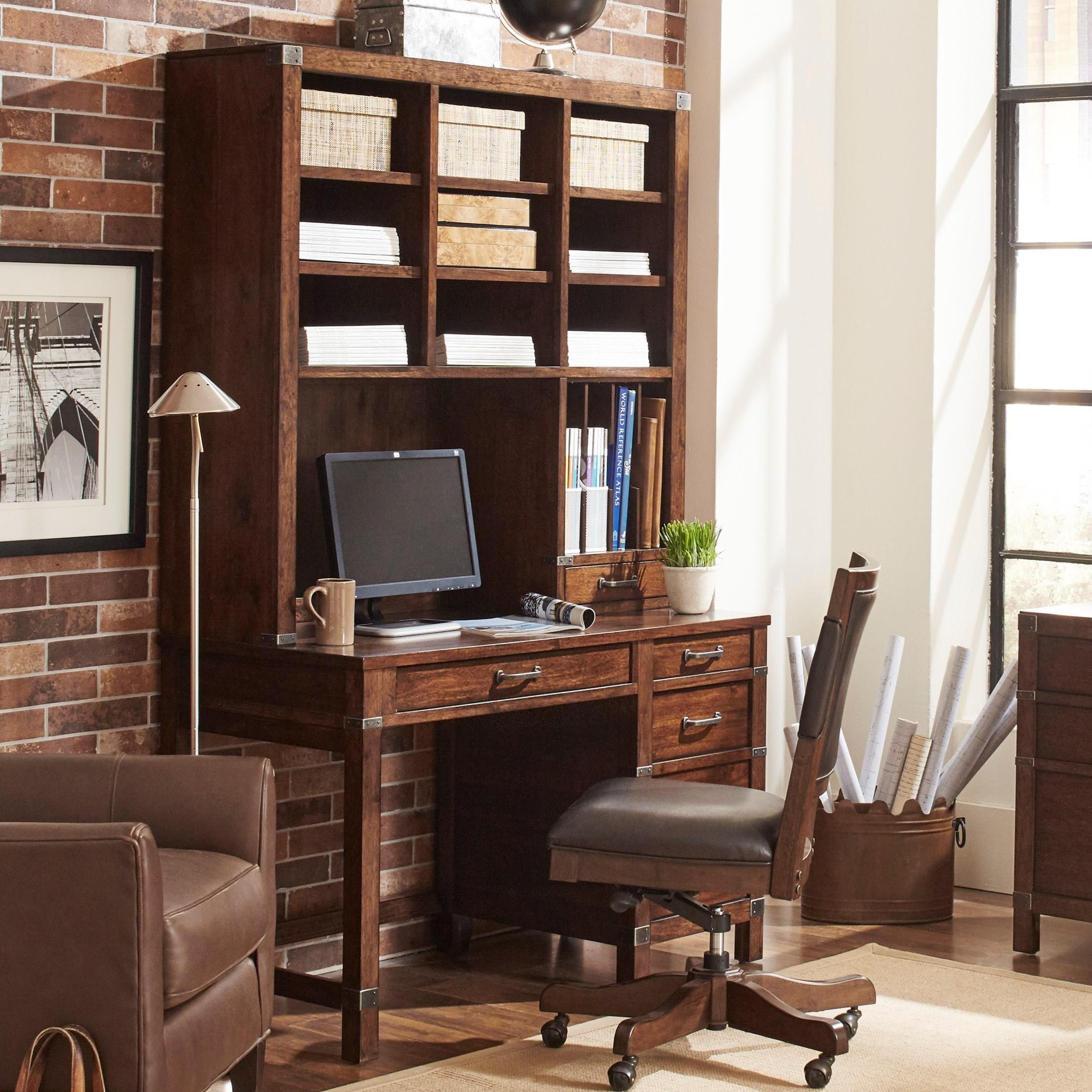 Aspenhome Canfield Single Pedestal Desk And Hutch Becker
