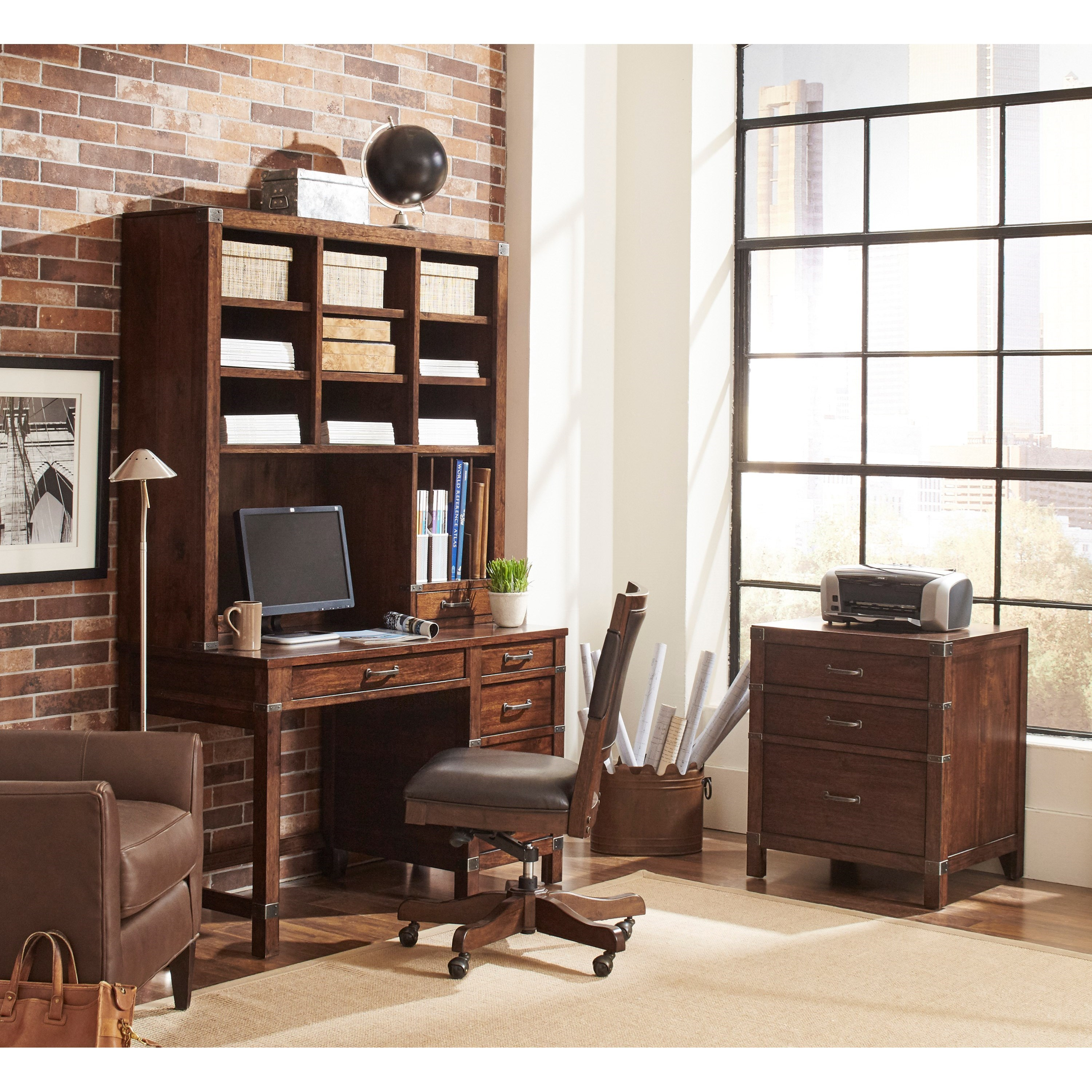 Aspenhome Canfield Icf 350 50 Single Pedestal Desk With