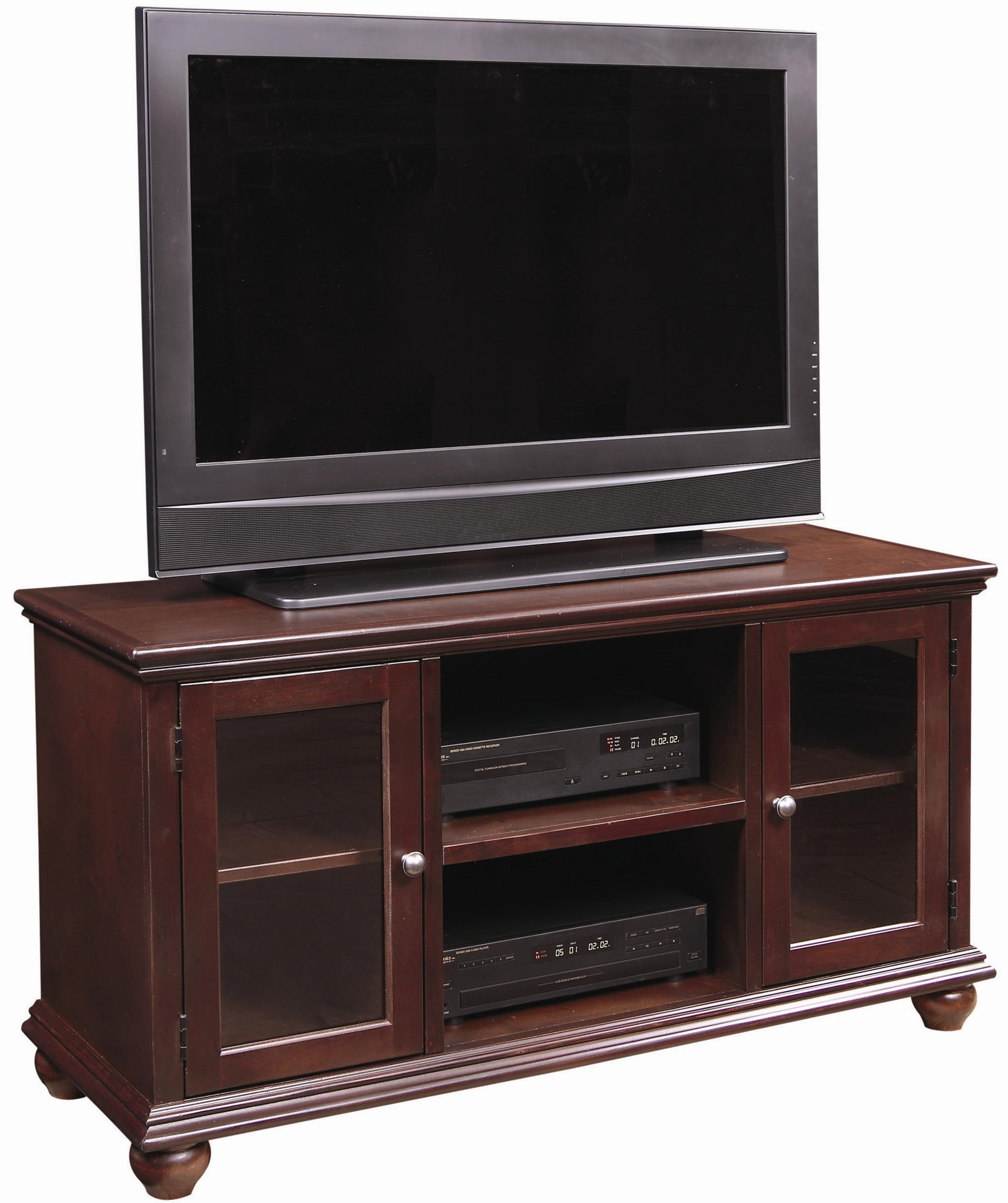 aspenhome casual traditional 51 inch television console. Black Bedroom Furniture Sets. Home Design Ideas
