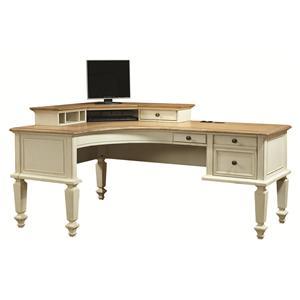 Aspenhome Cottonwood Curved Top Half Pedestal Desk