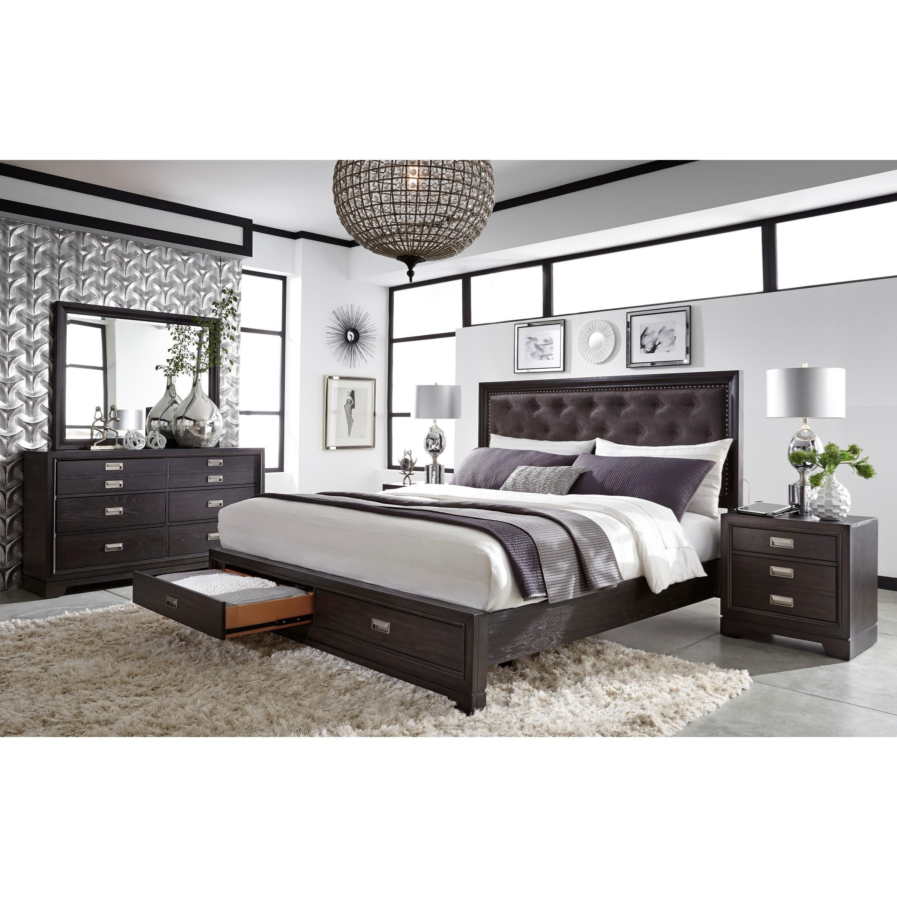Aspenhome Front Street Ifs 450 Blc 2 Drawer Nightstand With Ac Outlets Hudson 39 S Furniture