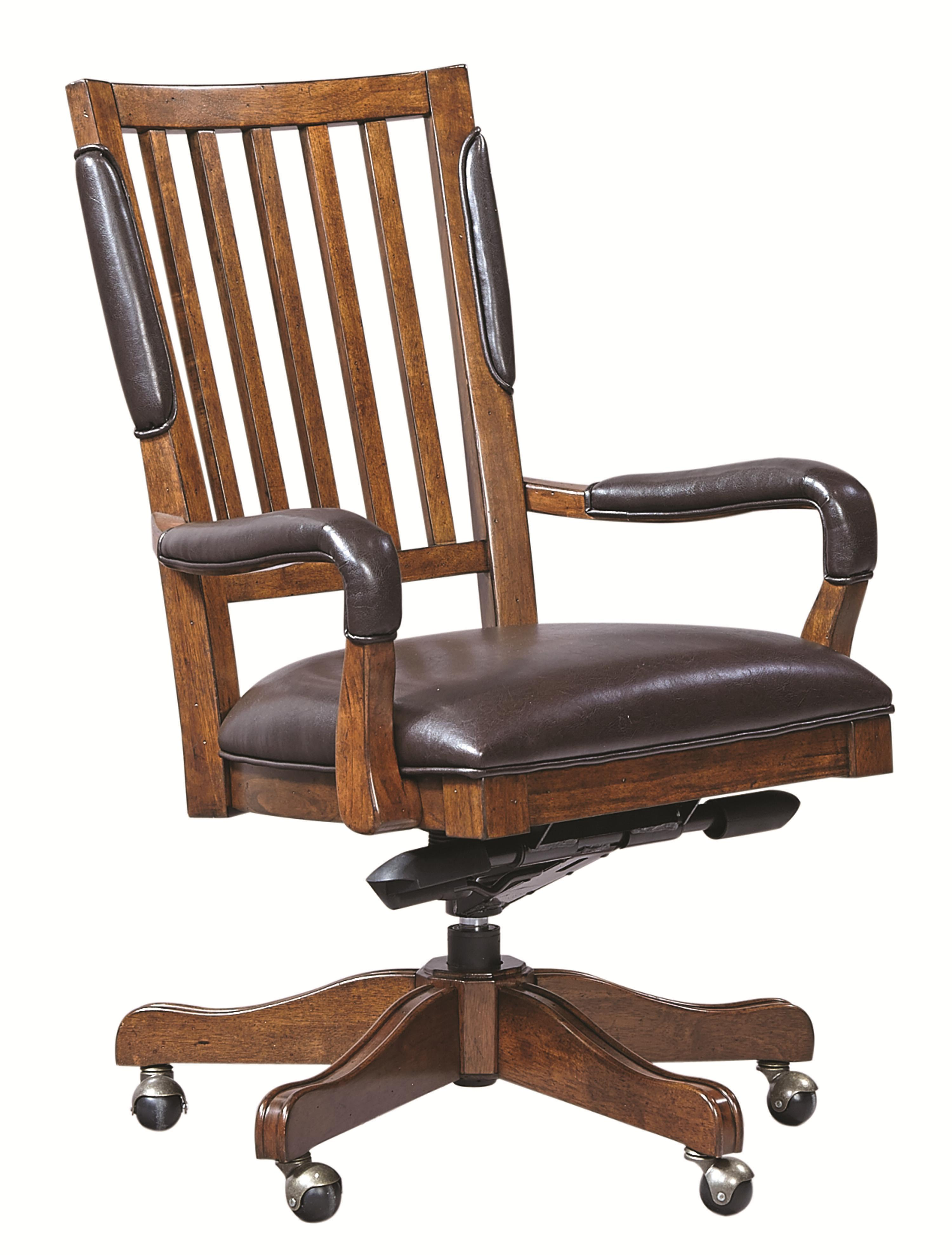 aspenhome hawthorne office chair with arms and bonded