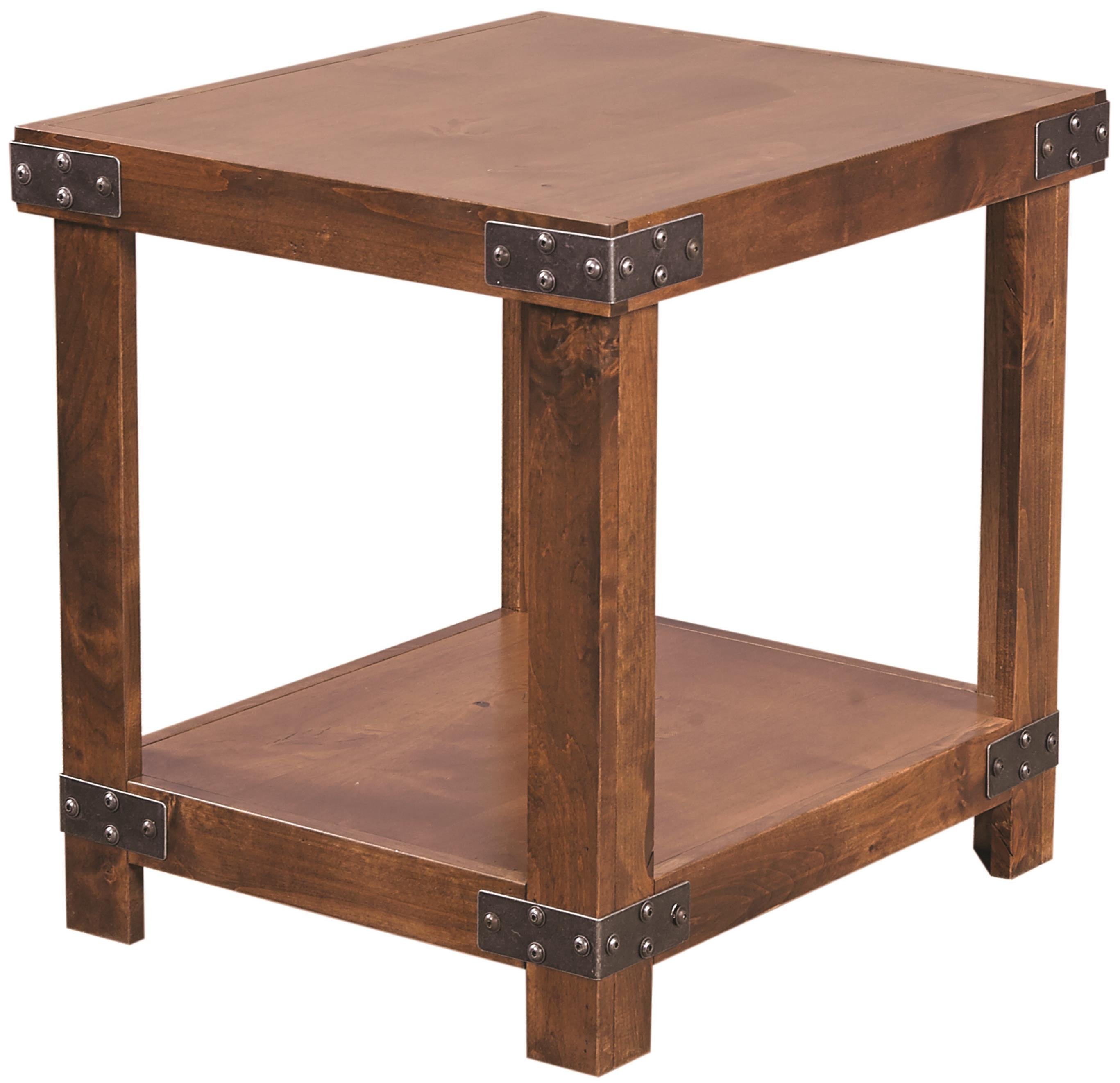 Aspenhome Industrial End Table With Shelf Boulevard Home