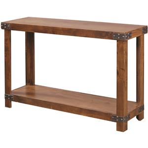 Aspenhome industrial 65 console with metal casters old for 65 sofa table