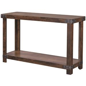 Aspenhome industrial 65 console with metal casters for 65 sofa table