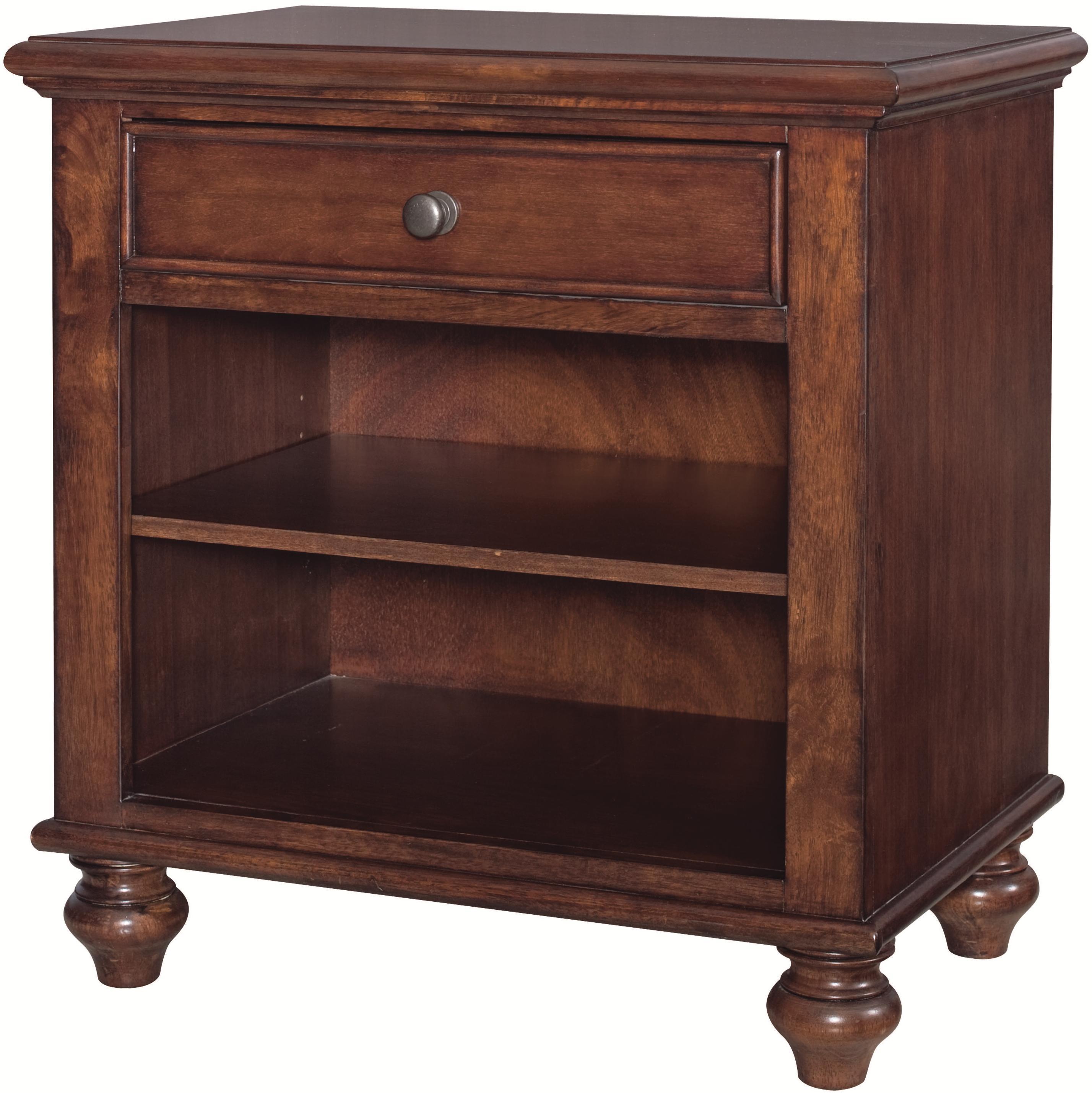 aspenhome madison ia200 451 brh one drawer one shelf. Black Bedroom Furniture Sets. Home Design Ideas