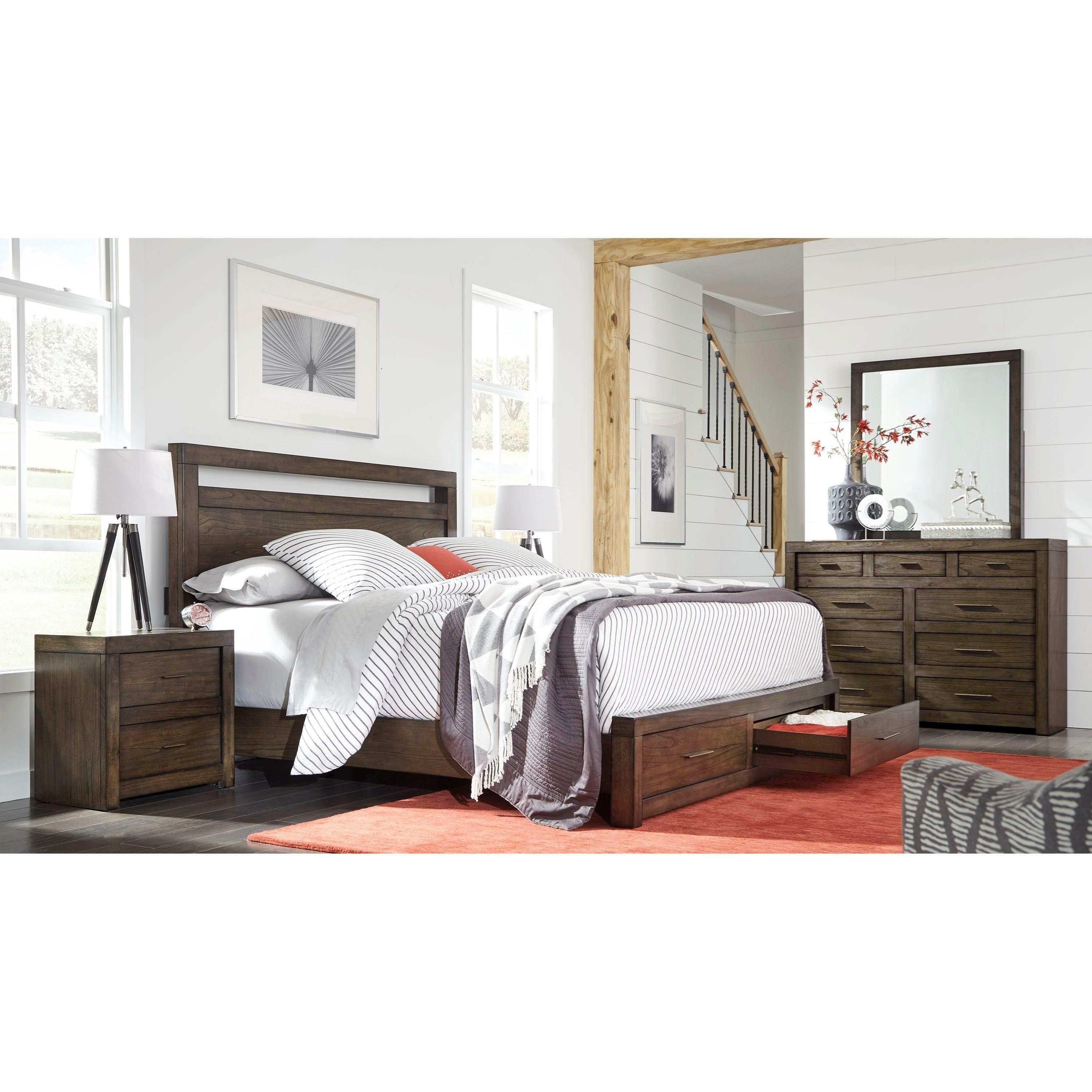 Aspenhome Modern Loft 2 Drawer Nightstand With 2 Ac Outlets Belfort Furniture Night Stands