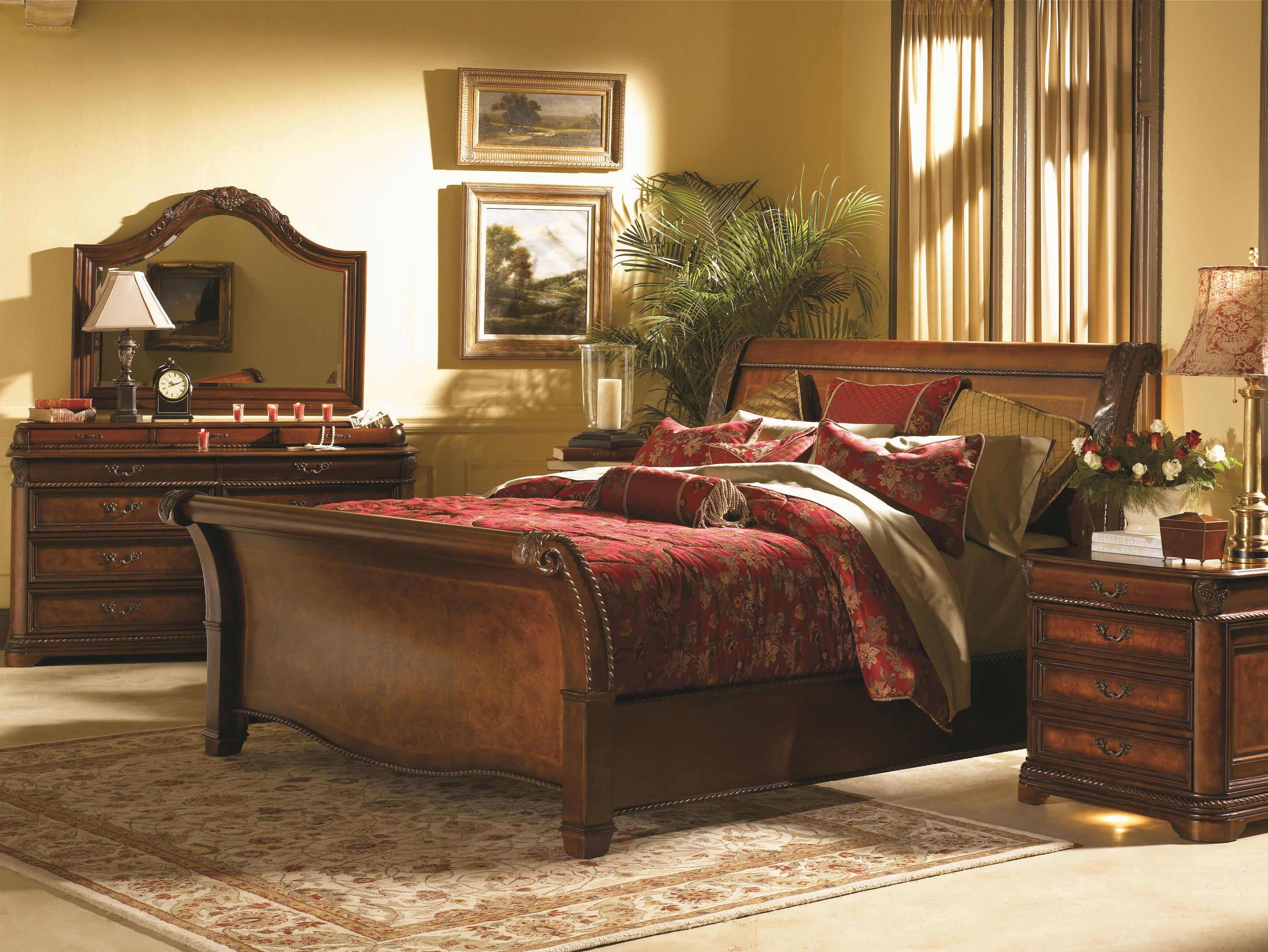 Aspenhome Napa I74 400 401 402 Queen Size Sleigh Bed With High Profile Footboard Pilgrim