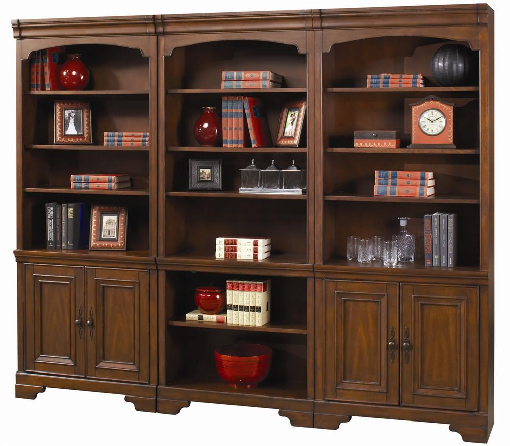 Aspenhome Richmond Large Bookcase Wall Belfort Furniture Bookcase 2 Pc With Hutch
