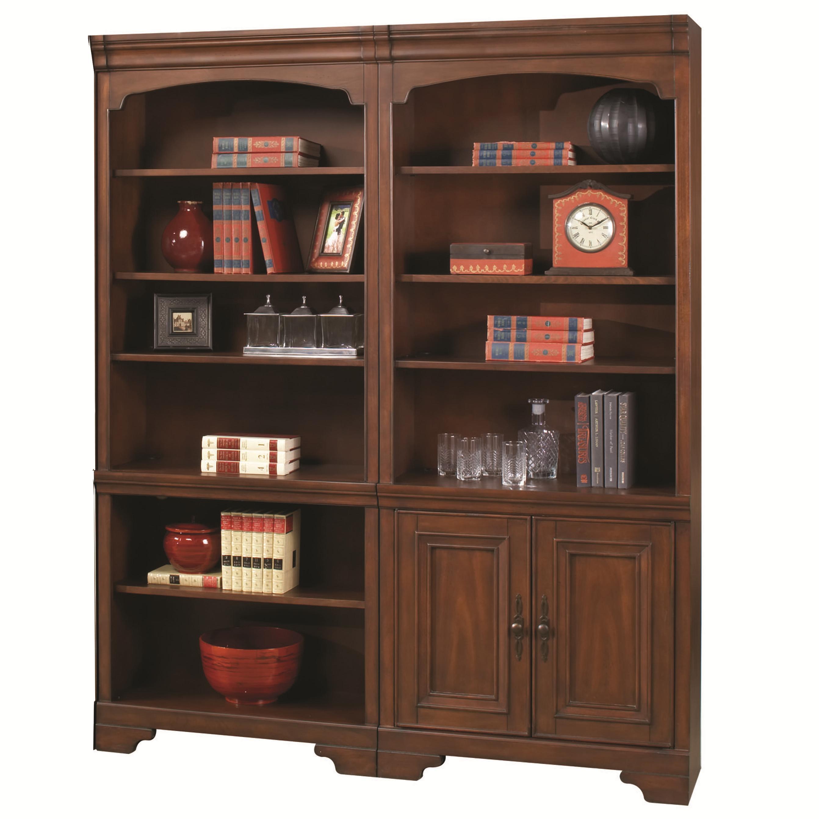Aspenhome Richmond Small Bookcase Combination Dunk Bright Furniture Bookcase 2 Pc With