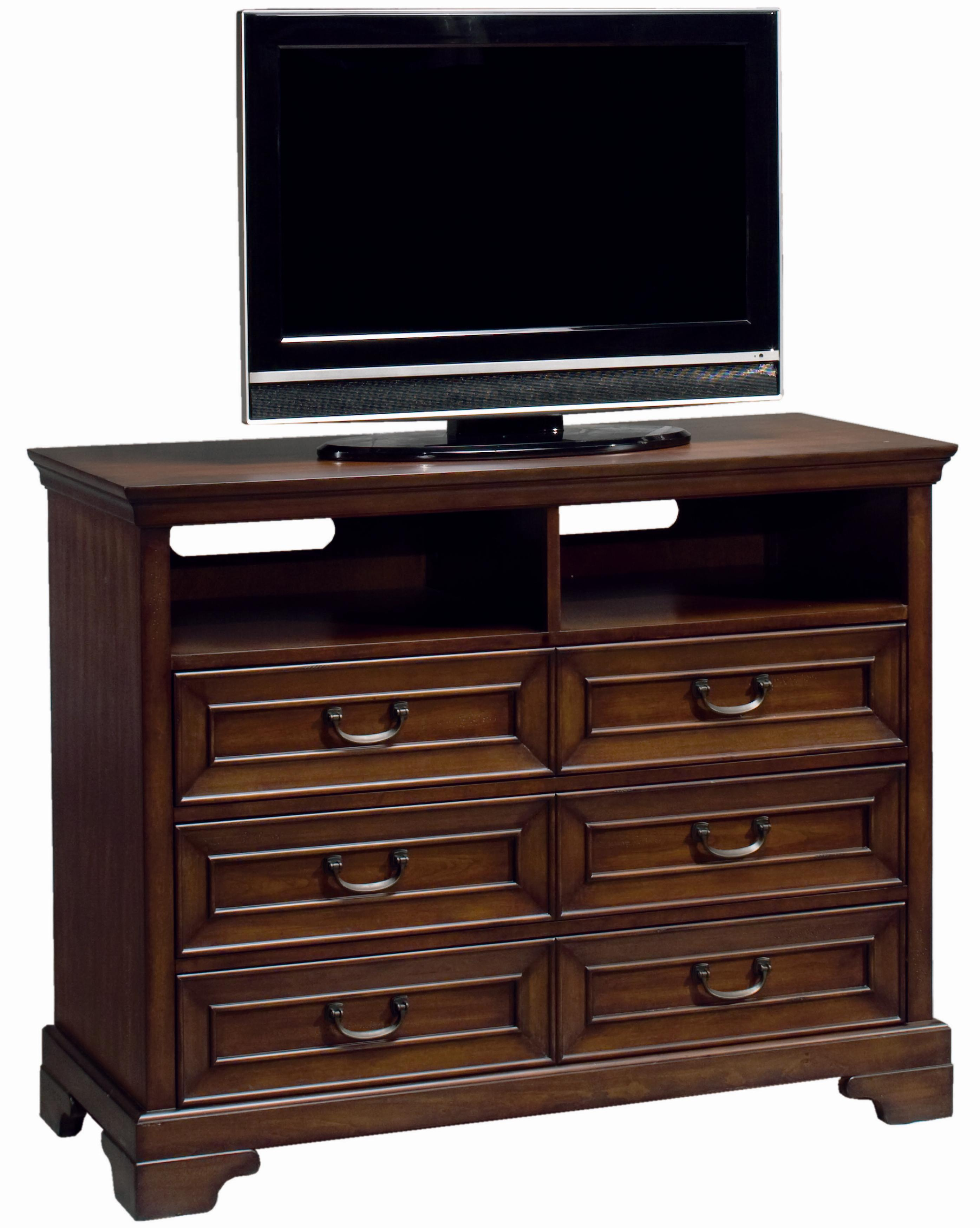Aspenhome Richmond Entertainment Chest With Three Drawers And Two Cubbyholes Belfort Furniture