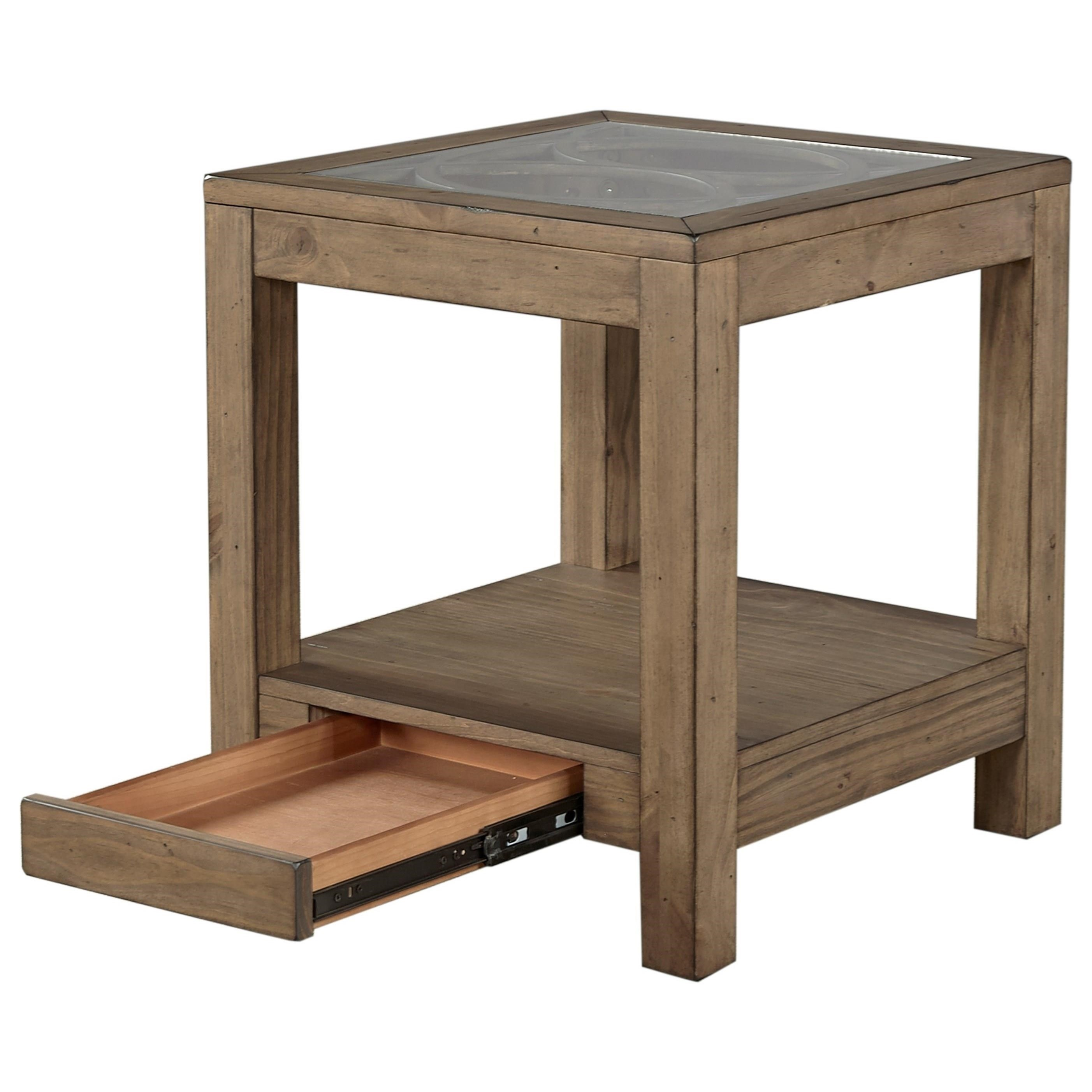 Highland court morris home end table with power outlet morris home end table Morris home furniture outlet