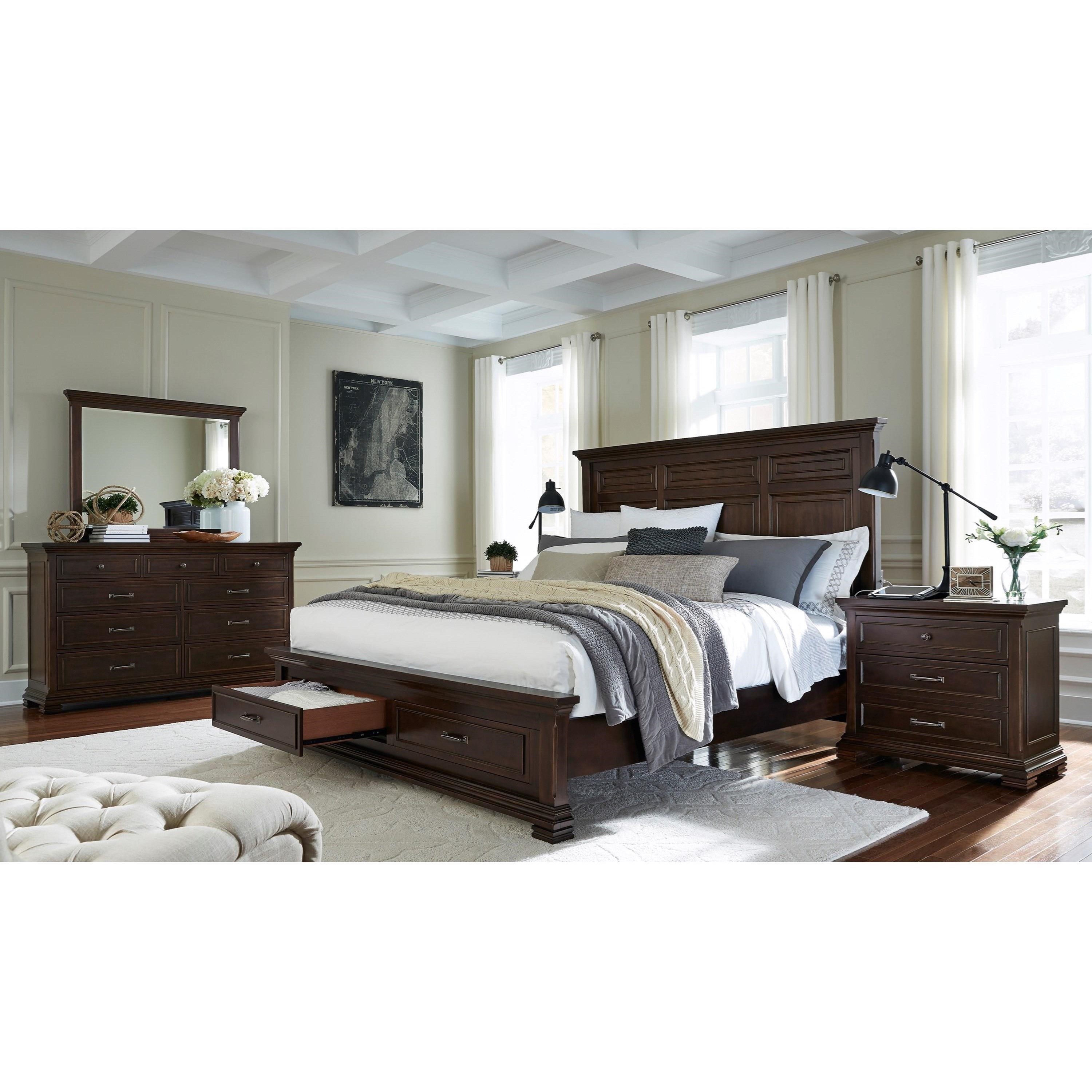 Aspenhome Weston Bedside Chest With 2 Electrical Outlets Belfort Furniture Night Stands