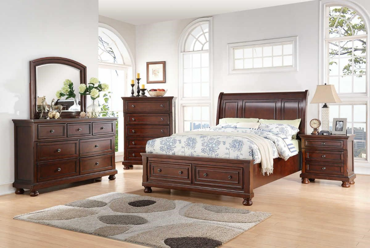 Avalon Furniture Sophia B0961 Kb King Storage Bed Great American Home Store Sleigh Beds