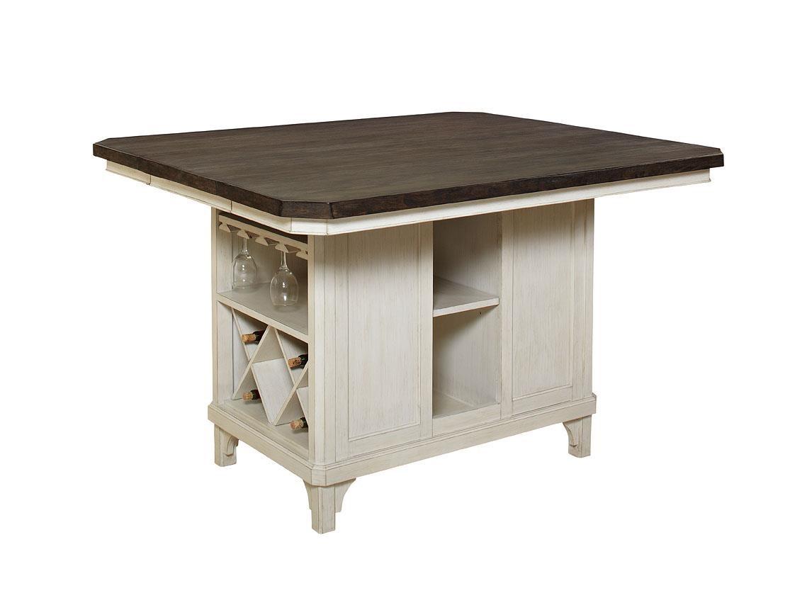 Avalon Furniture Mystic Cay Aval Grp D00042 Tbl 6 Set1 Kitchen Island 4 Backless Stools 2