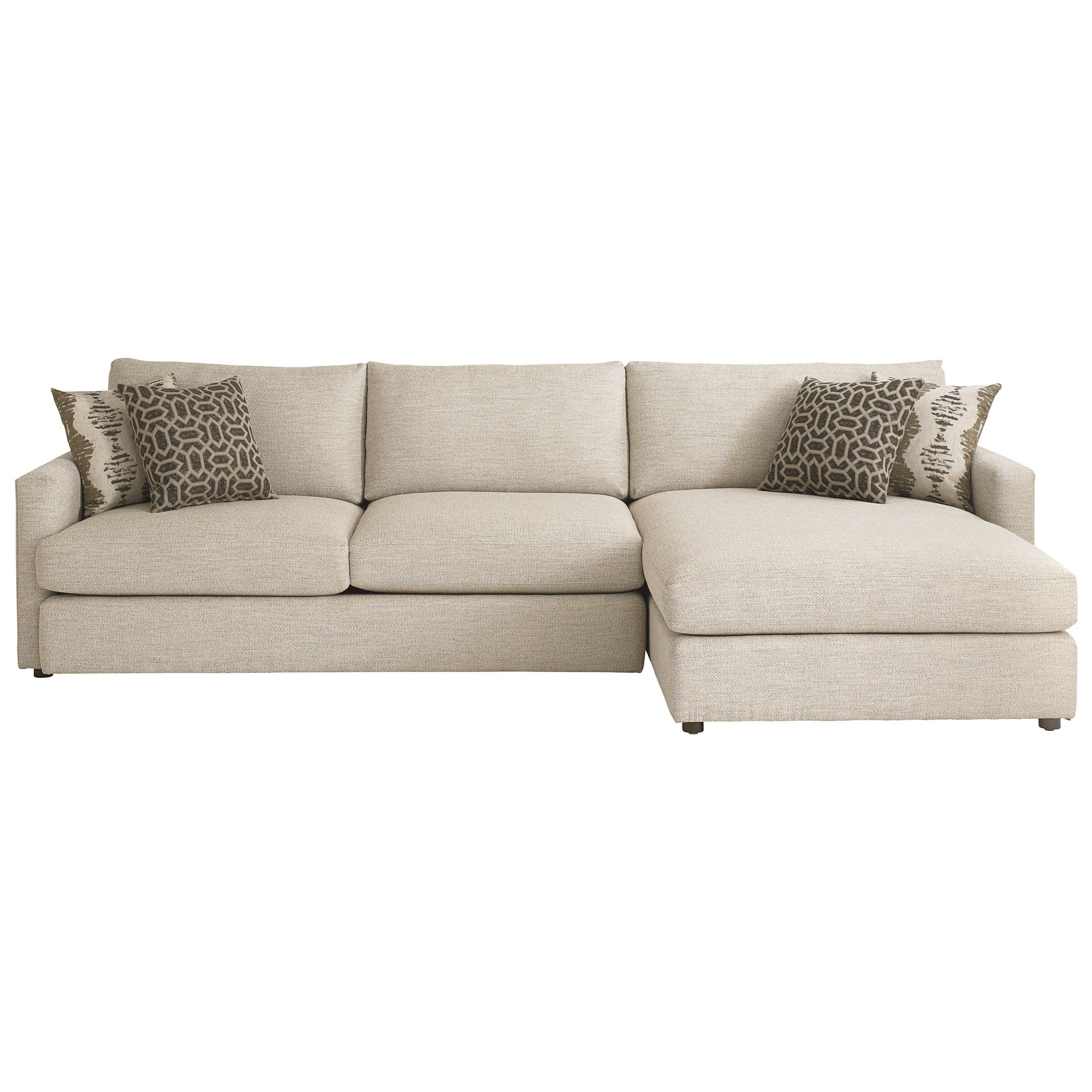bassett allure contemporary sectional with right arm With bassett sectional sofa with chaise