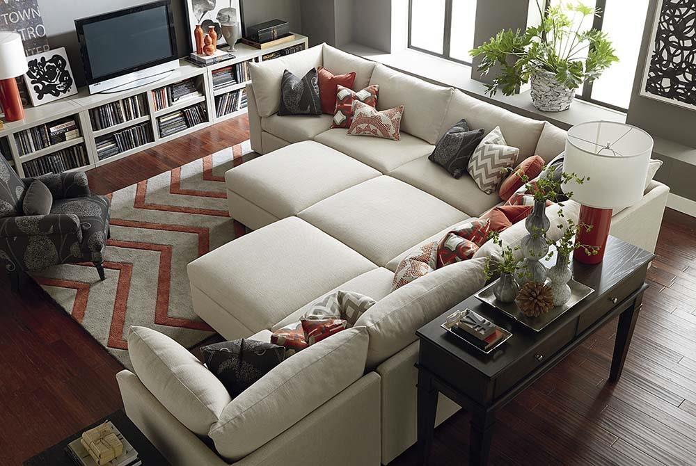 Bassett Beckham 3974 3974 Psect Custom Modular Pit Sectional Great American Home Store Sofa