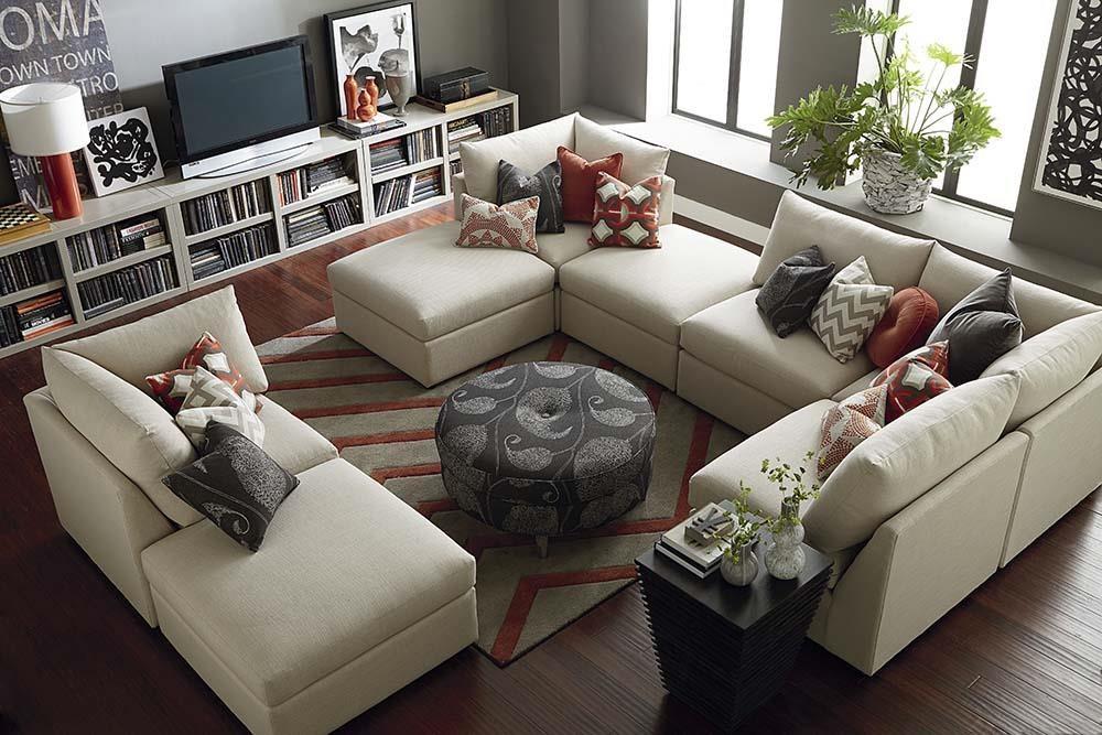 Bassett Beckham 3974 3974 Usect8 Custom Modular U Shaped Sectional Great American Home Store