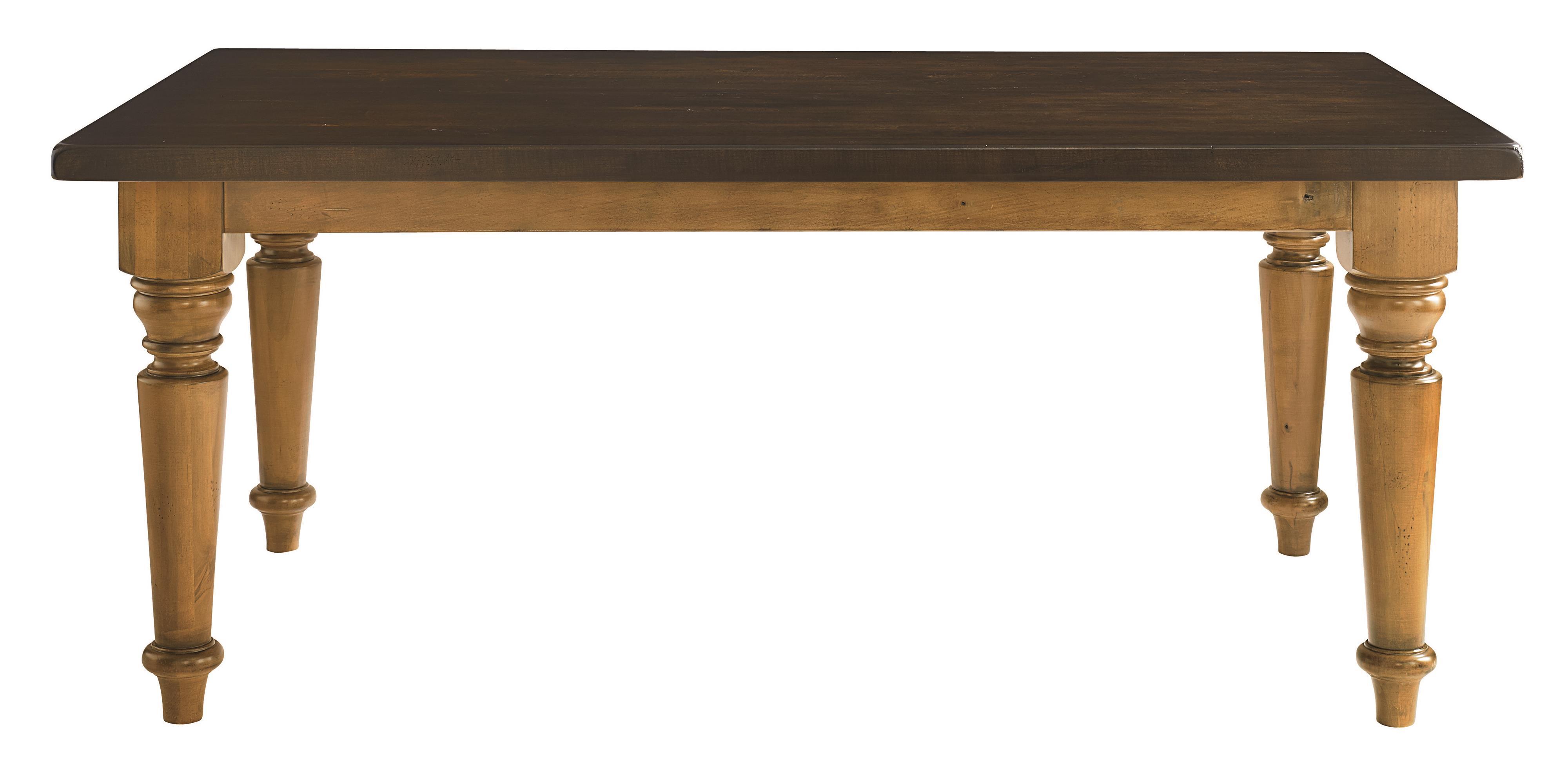 "Bassett Bench Made 72"" Rectangle Farmhouse Table Dunk & Bright Fur"